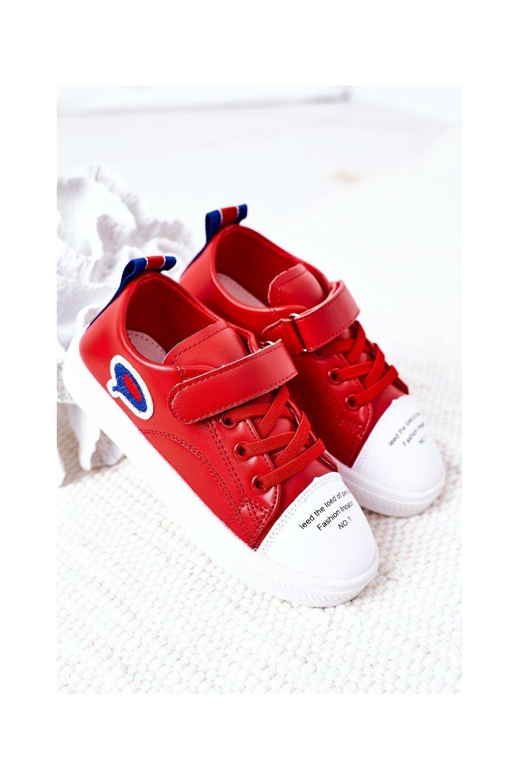 Detské tenisky farba červená kód obuvi C32-1 RED
