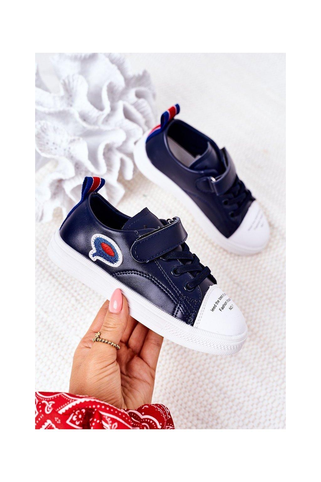 Detské tenisky farba modrá kód obuvi C32-1 NAVY
