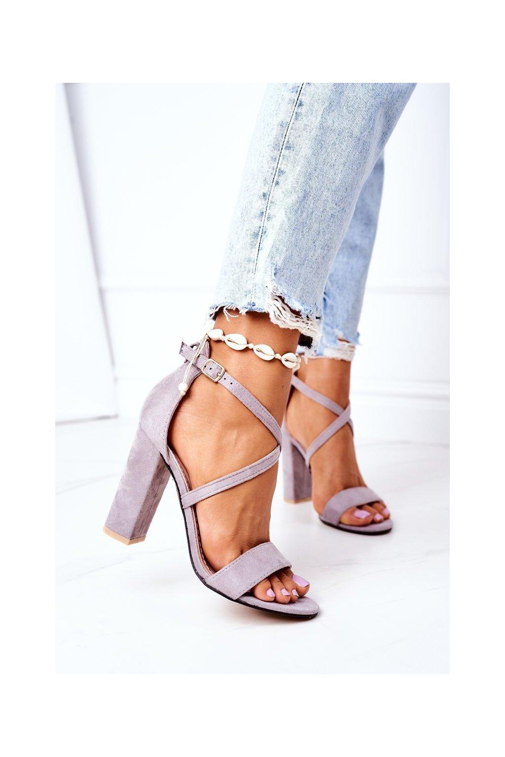 Dámske sandále farba sivá kód obuvi GG88 GREY