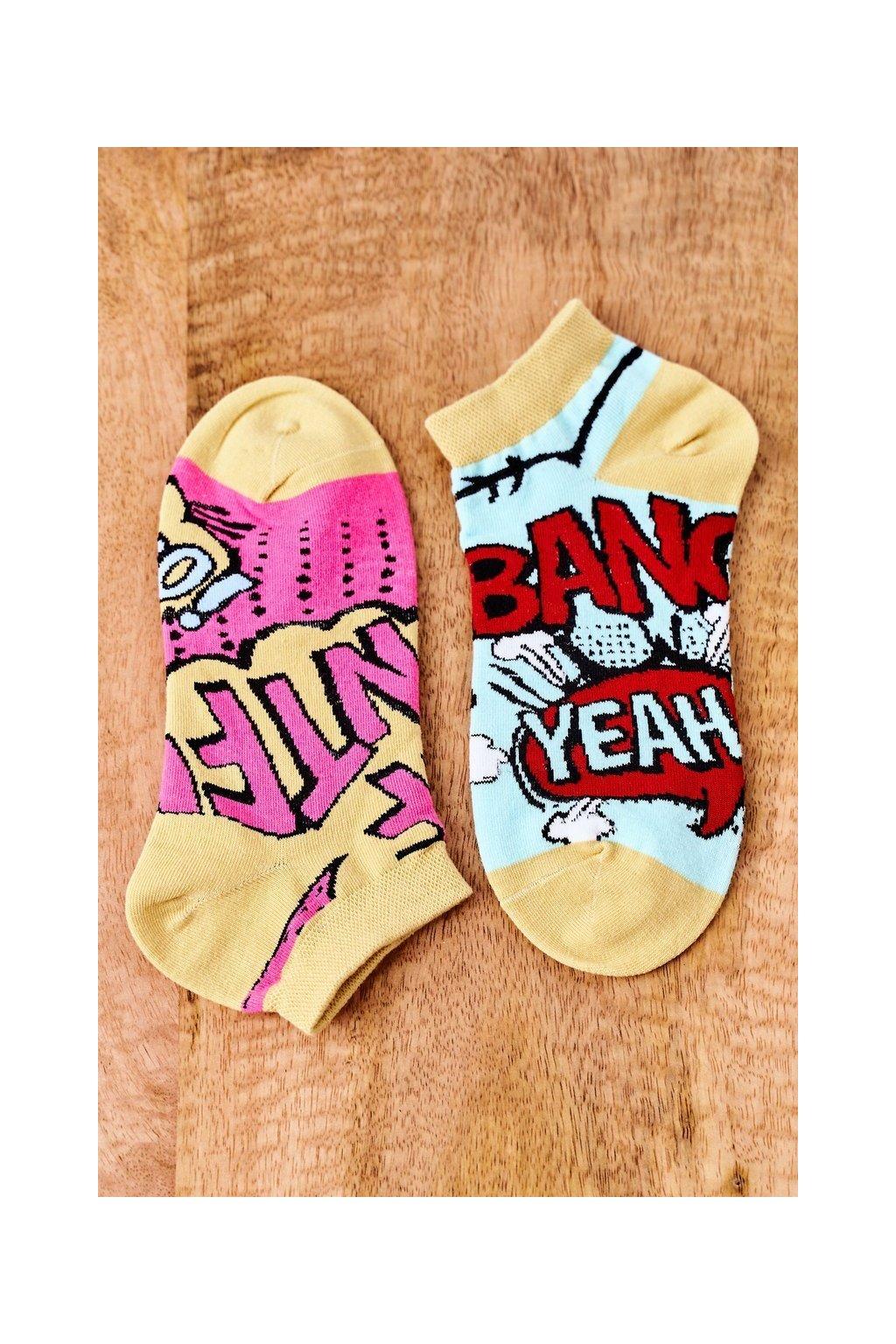 Dámske ponožky farba žltá kód SK02870-3 KOMIKS