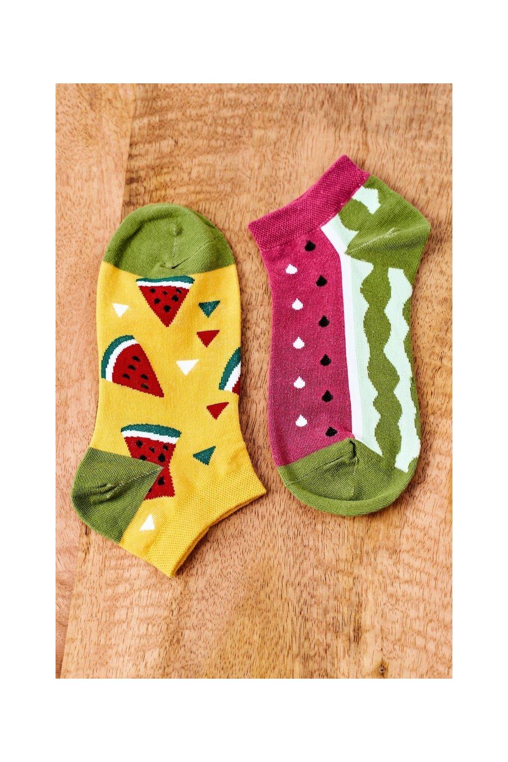 Dámske ponožky farba žltá kód SK02870-2 ARBUZ