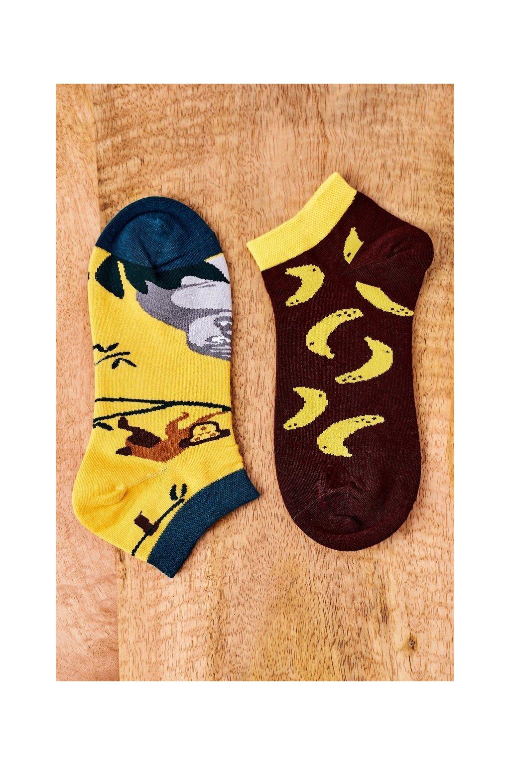 Dámske ponožky farba hnedá kód SK02870-2 BANANY MAŁPA