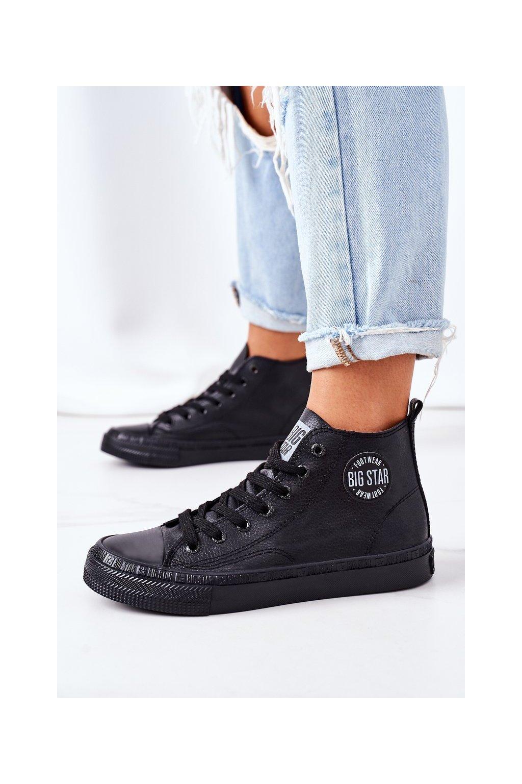 Dámske tenisky farba čierna kód obuvi GG274015 BLACK