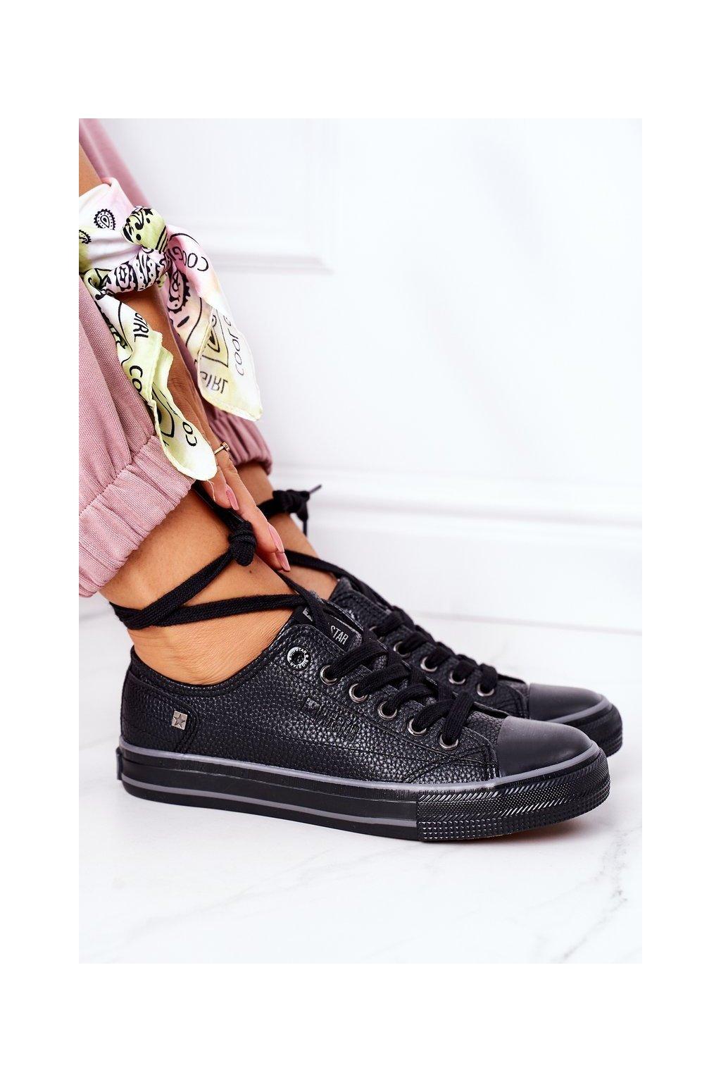 Dámske tenisky farba čierna kód obuvi II274002 BLACK