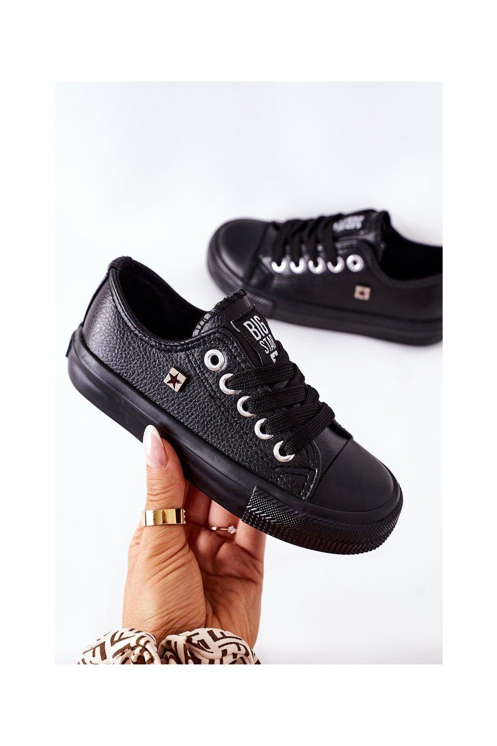 Detské tenisky farba čierna kód obuvi FF374304 BLACK
