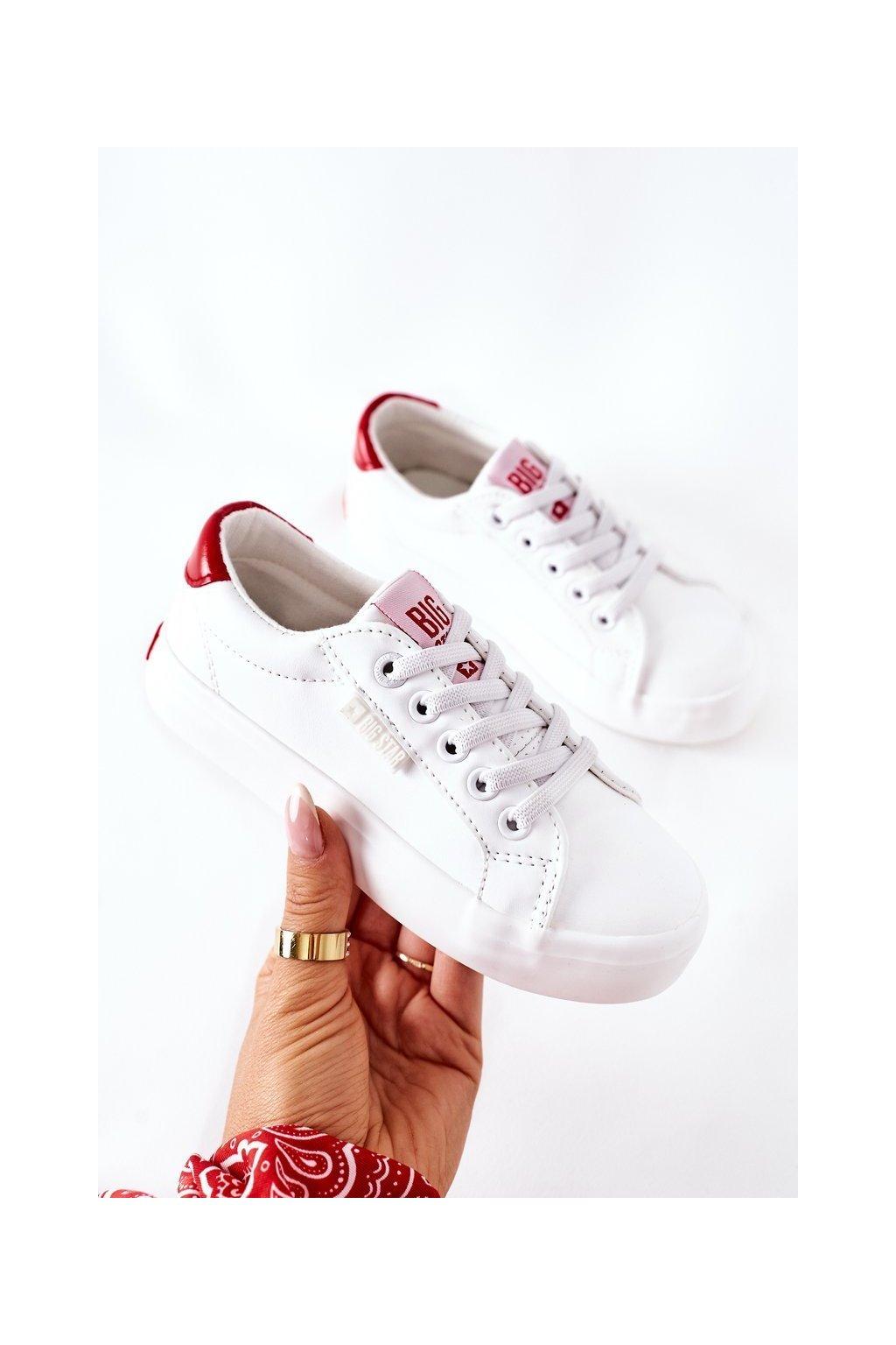 Detské tenisky farba biela kód obuvi DD374134 WHITE