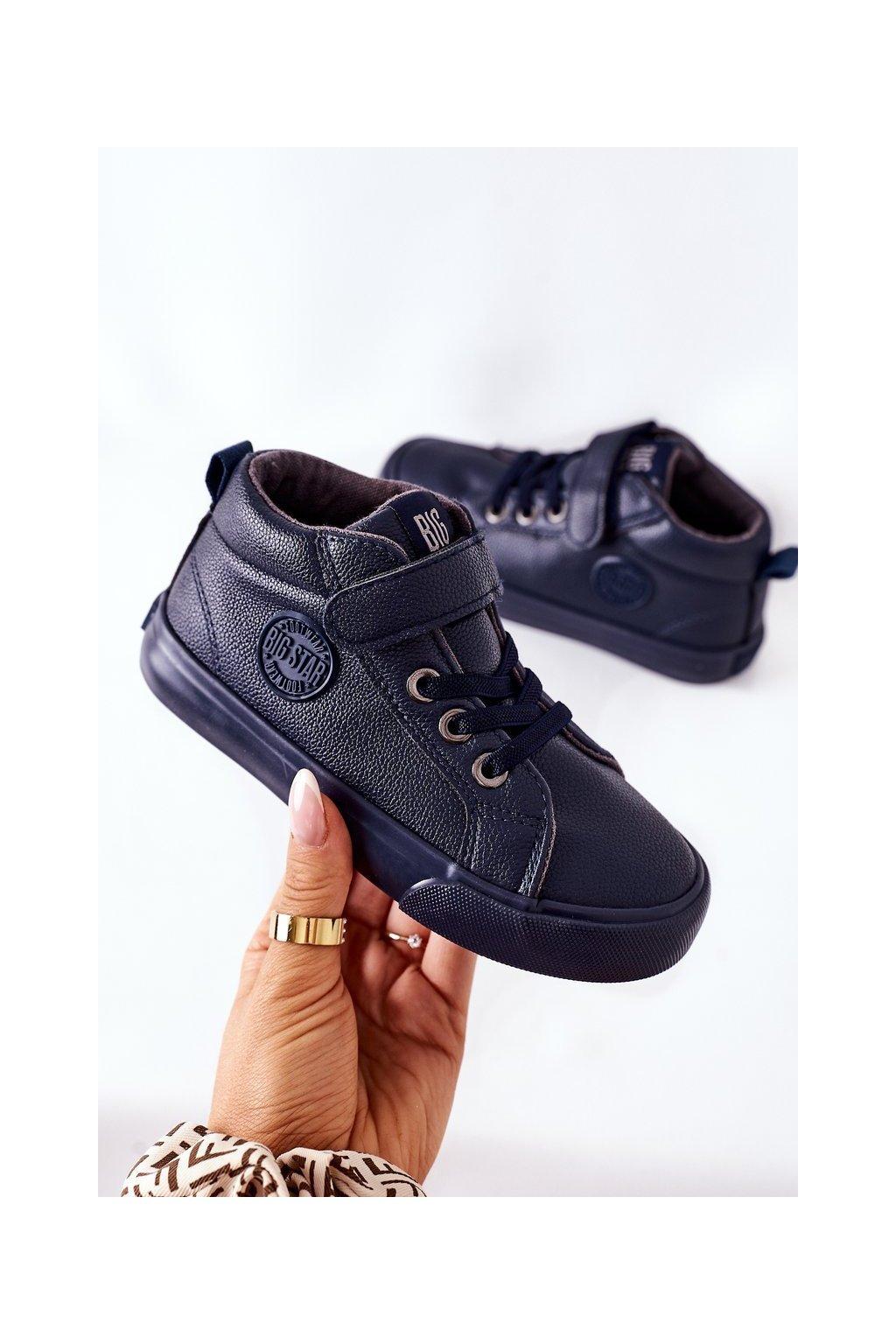 Detské tenisky farba modrá kód obuvi EE374003 NAVY