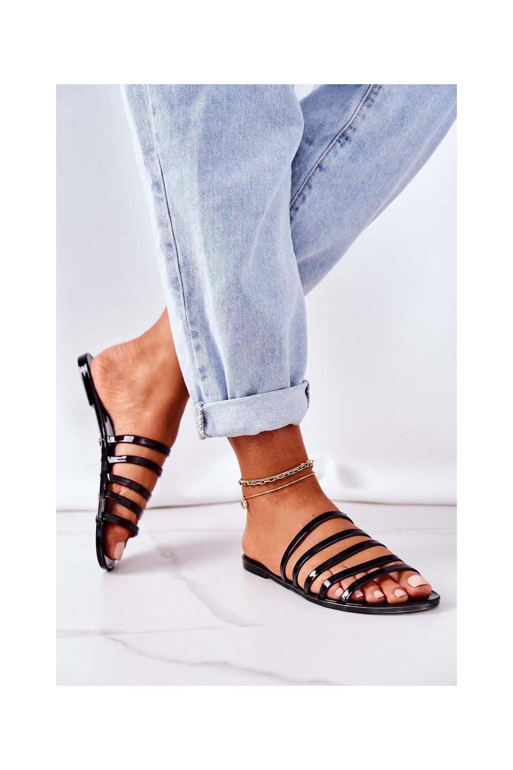 Dámske šľapky farba čierna kód obuvi KG14 BLACK
