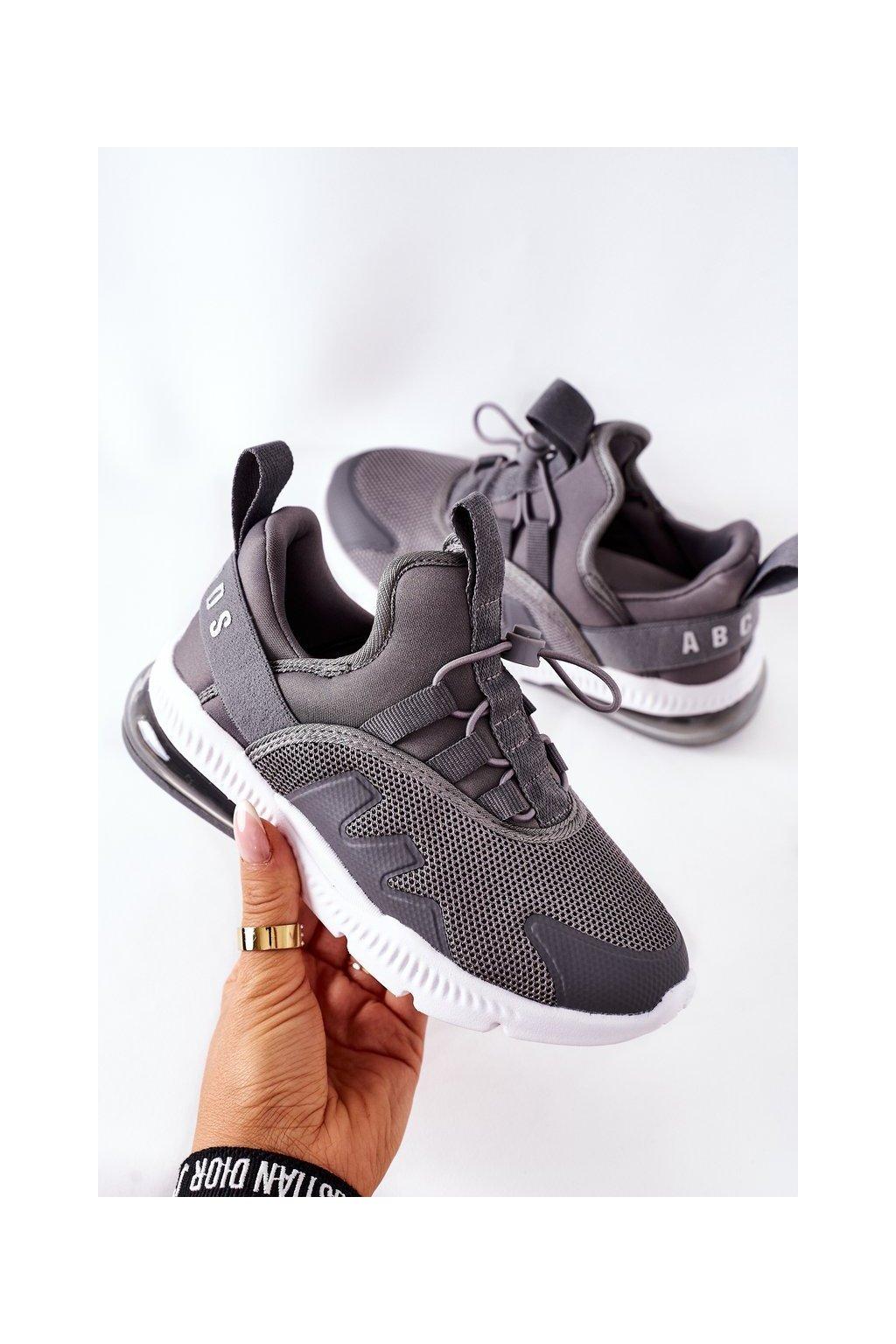 Detské tenisky farba sivá kód obuvi B012302201 GREY