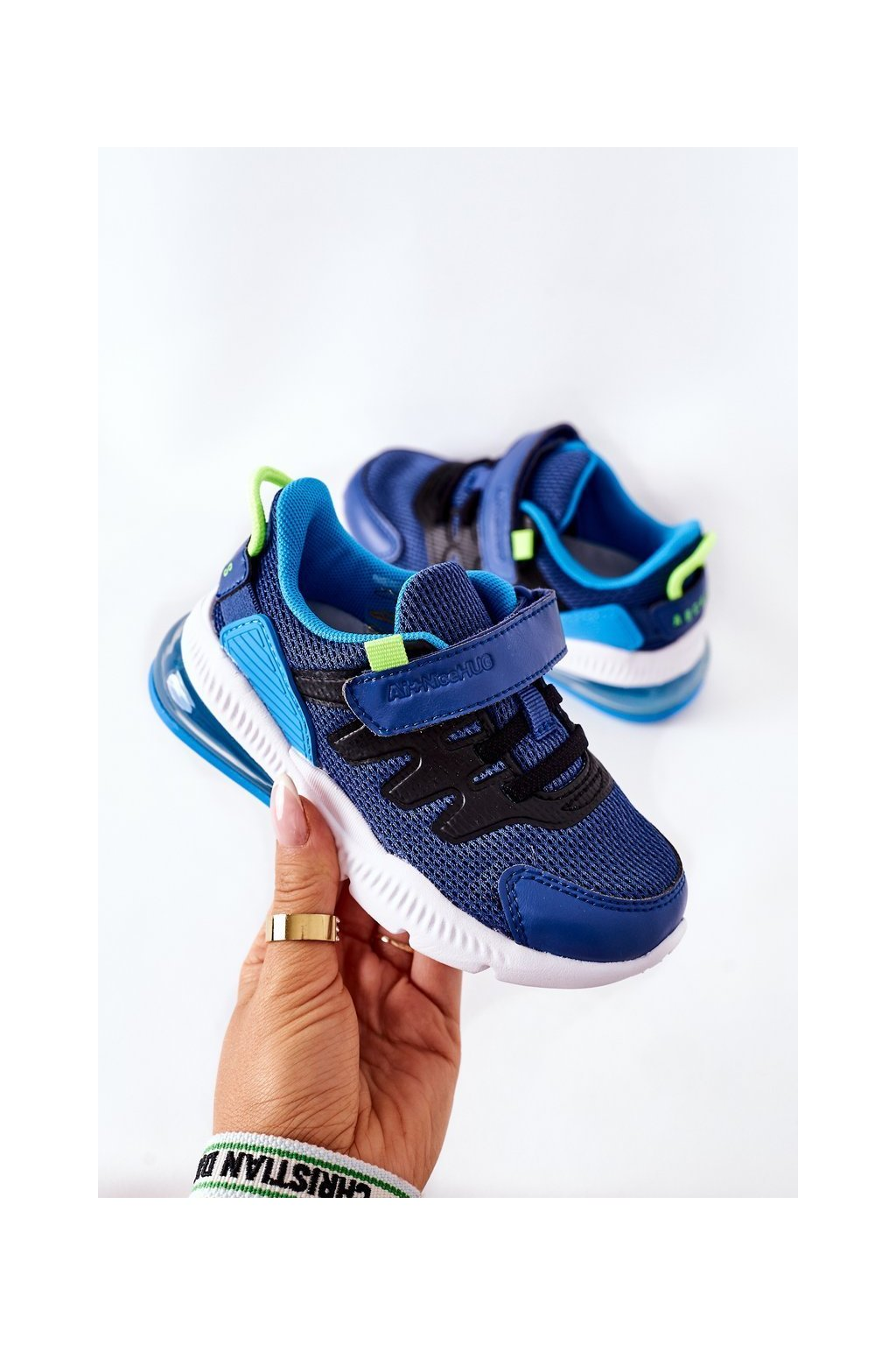 Detské tenisky farba čierna kód obuvi B012202021 B012302021 BLUE