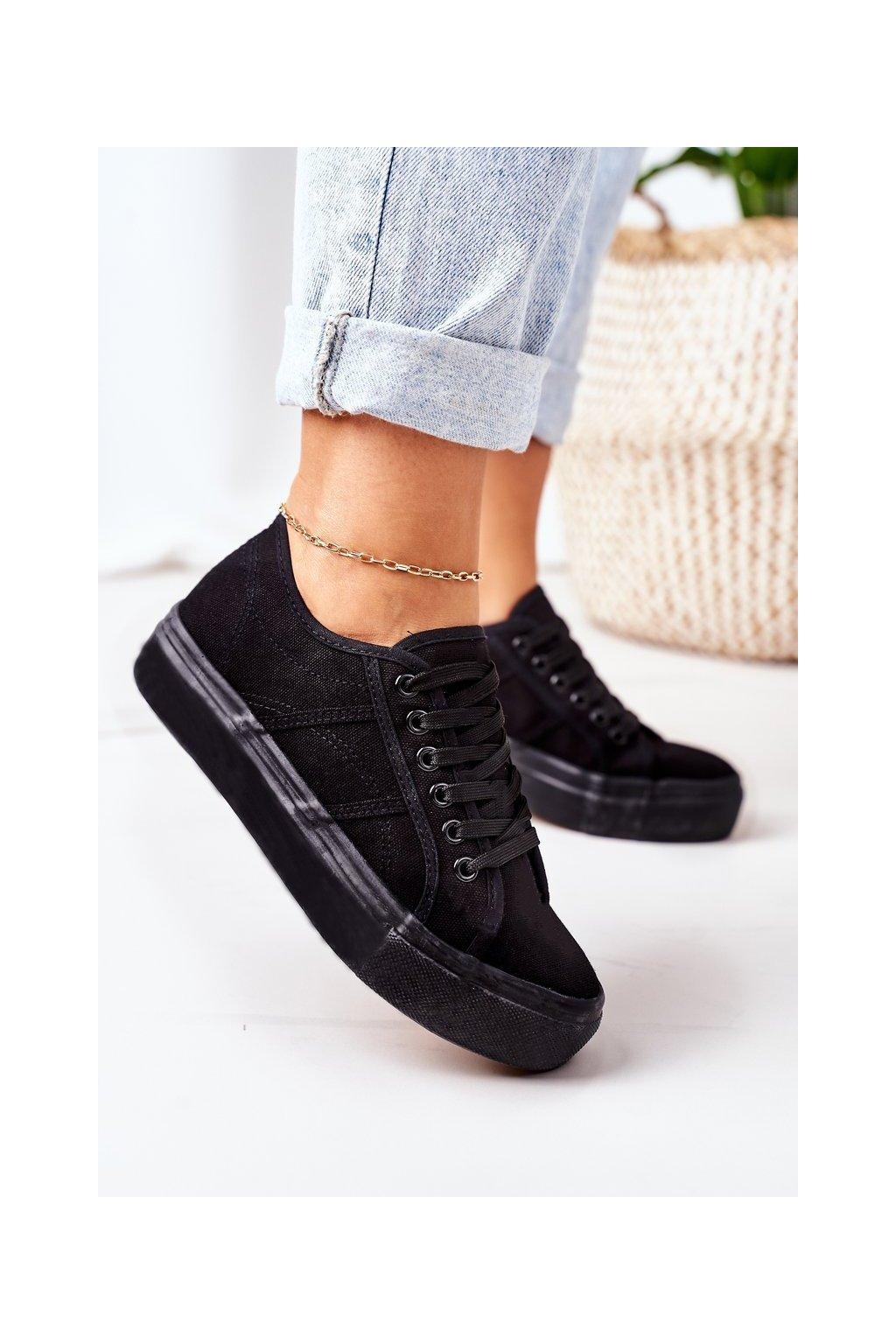 Dámske tenisky farba čierna kód obuvi AK81 BLACK