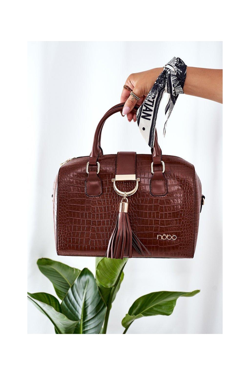Dámska kabelka hnedá kód kabelky NBAG-L1440-C017 BROWN