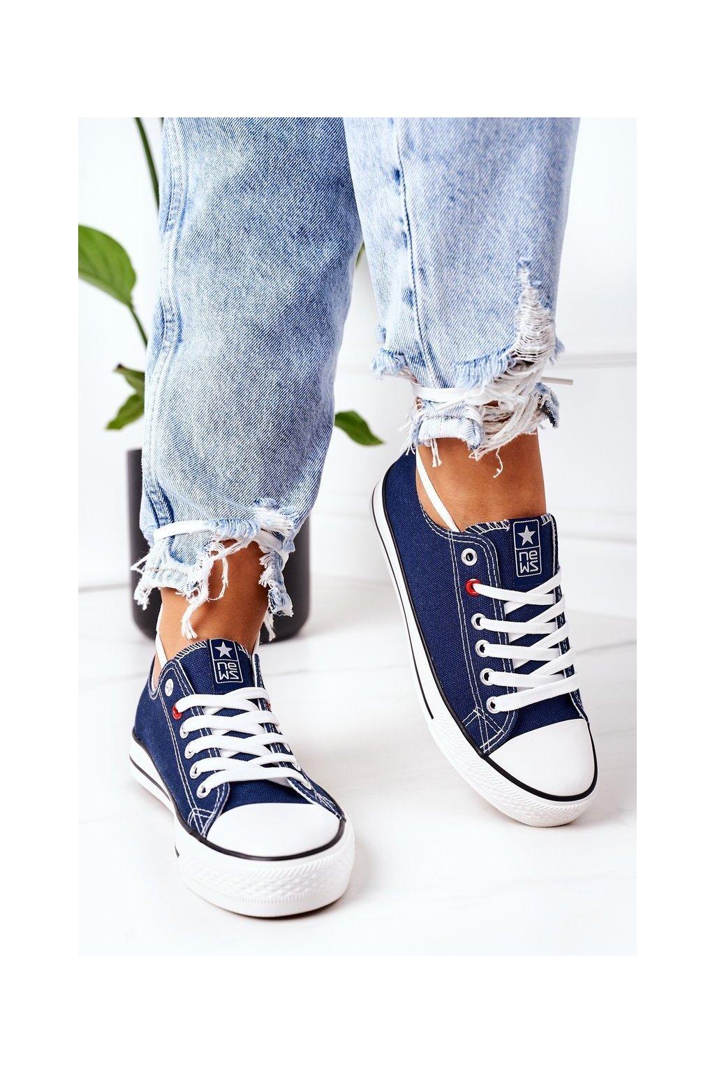 Dámske tenisky farba modrá kód obuvi 8SP30-4723 NAVY