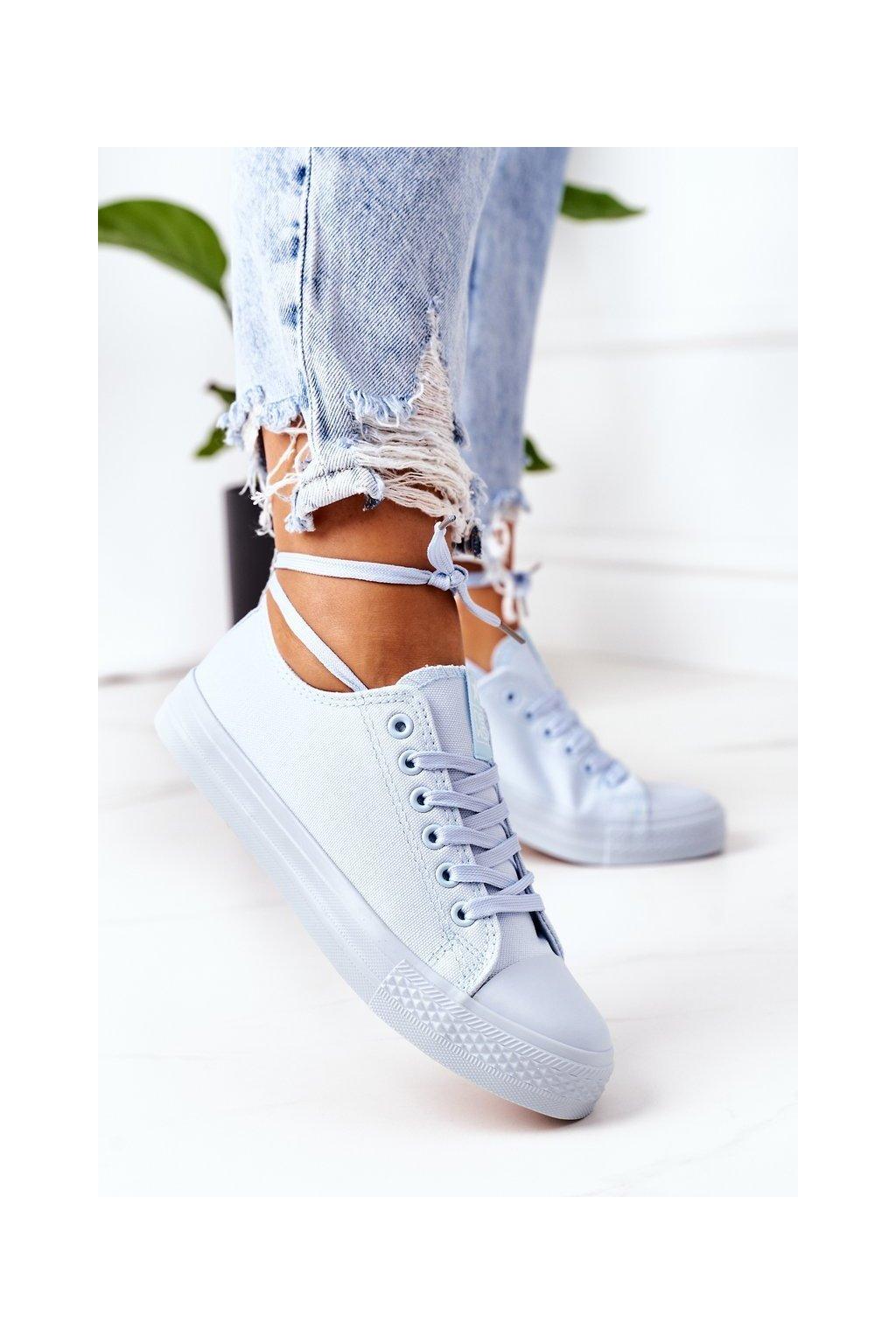 Dámske tenisky farba modrá kód obuvi 9SP30-1141 BLUE