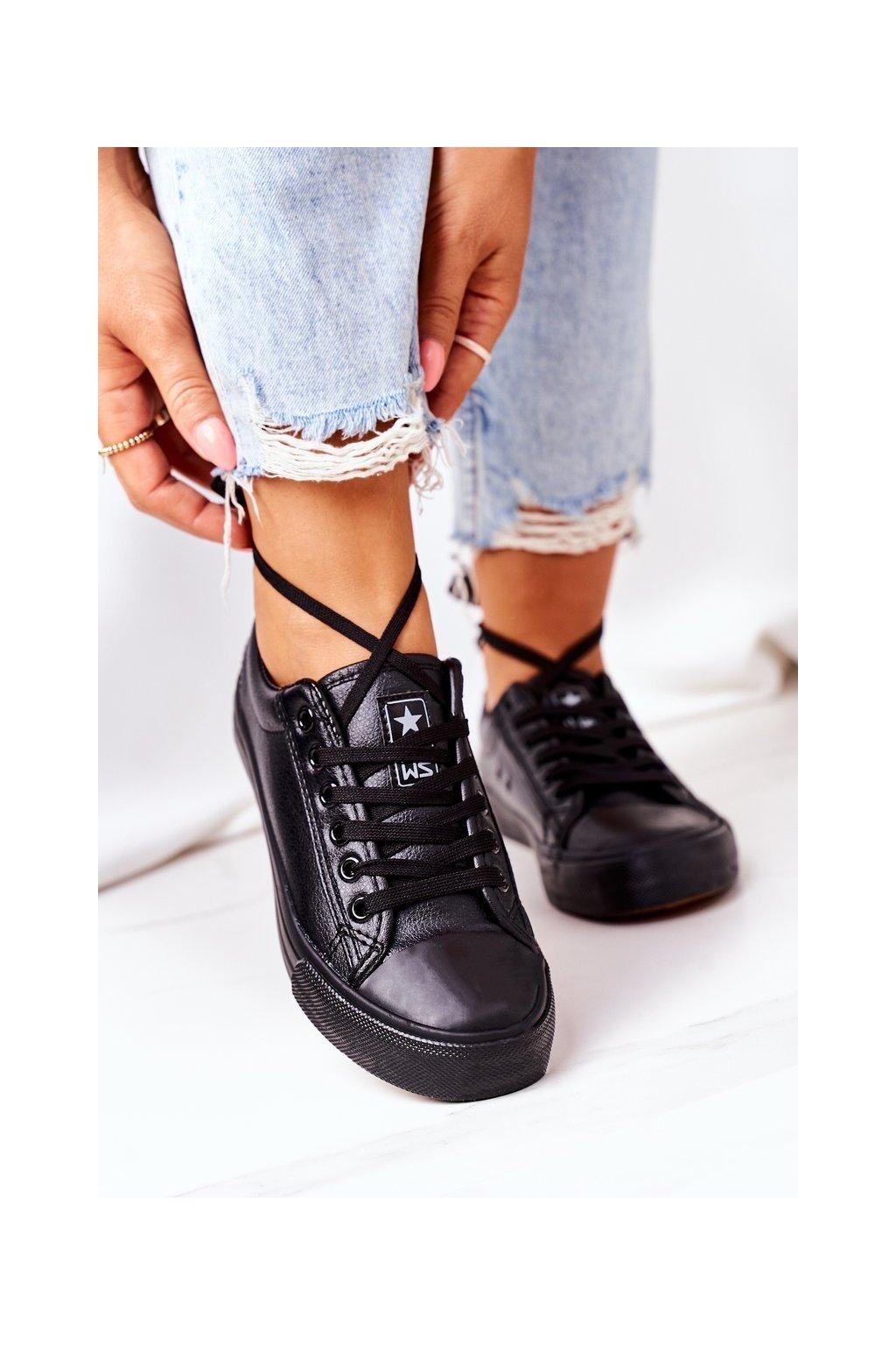 Dámske tenisky farba čierna kód obuvi 21SP02-1200 BLACK