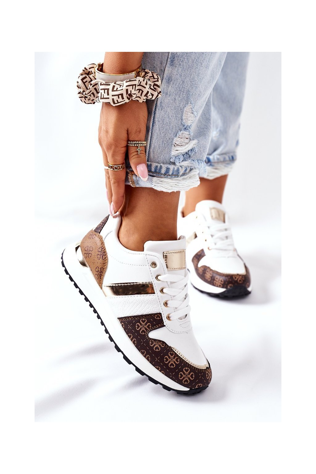 Dámske tenisky farba biela kód obuvi US7 WHITE