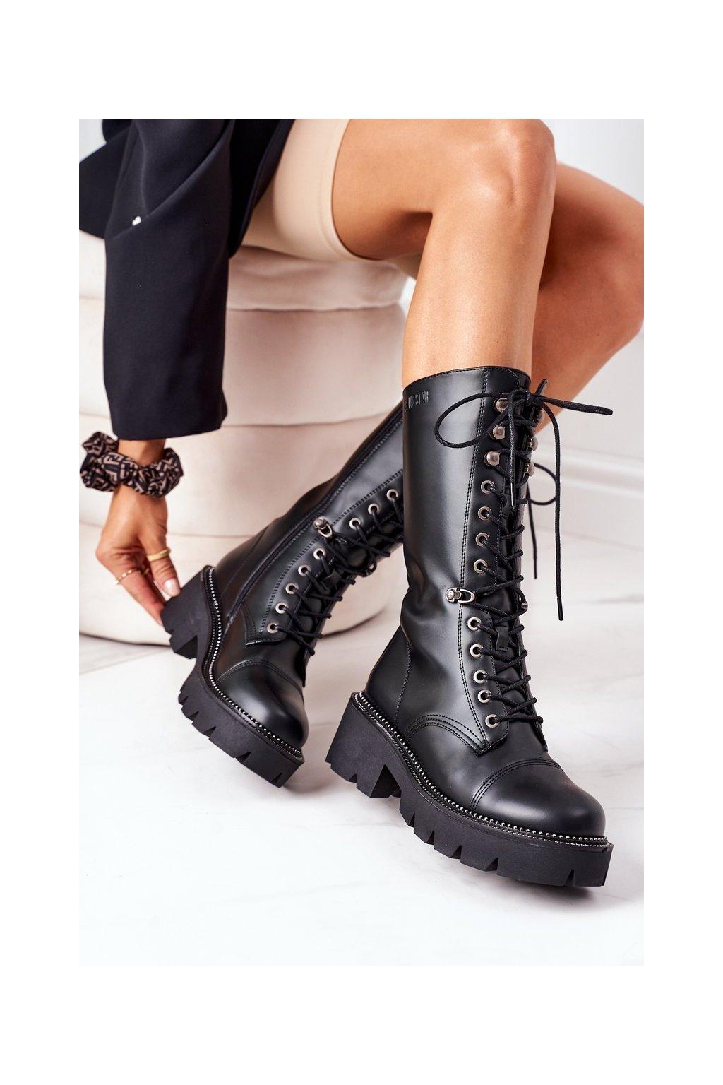 Dámske čižmy farba čierna kód obuvi II274115 BLACK