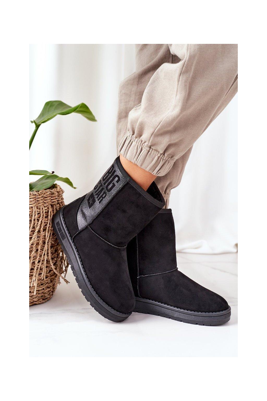 Dámske snehule farba čierna kód obuvi EE274415 BLK