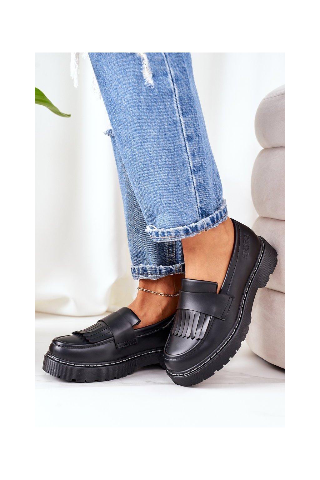 Dámske poltopánky farba čierna kód obuvi II274100 BLACK