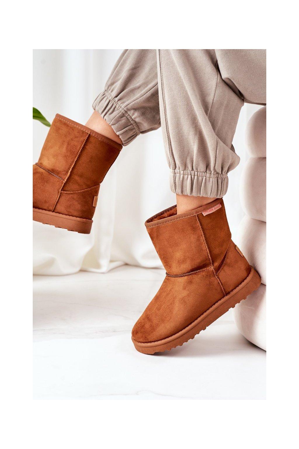 Dámske snehule farba hnedá kód obuvi EE2R4028C BROWN