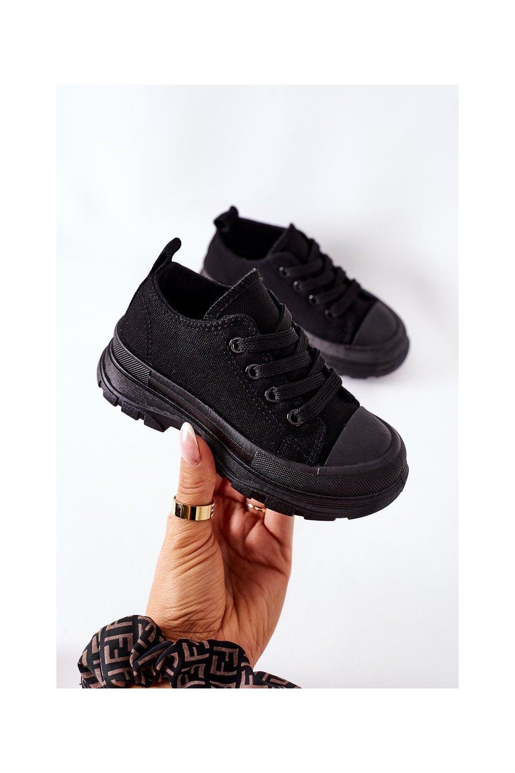 Detské tenisky farba čierna kód obuvi 808-A BLACK