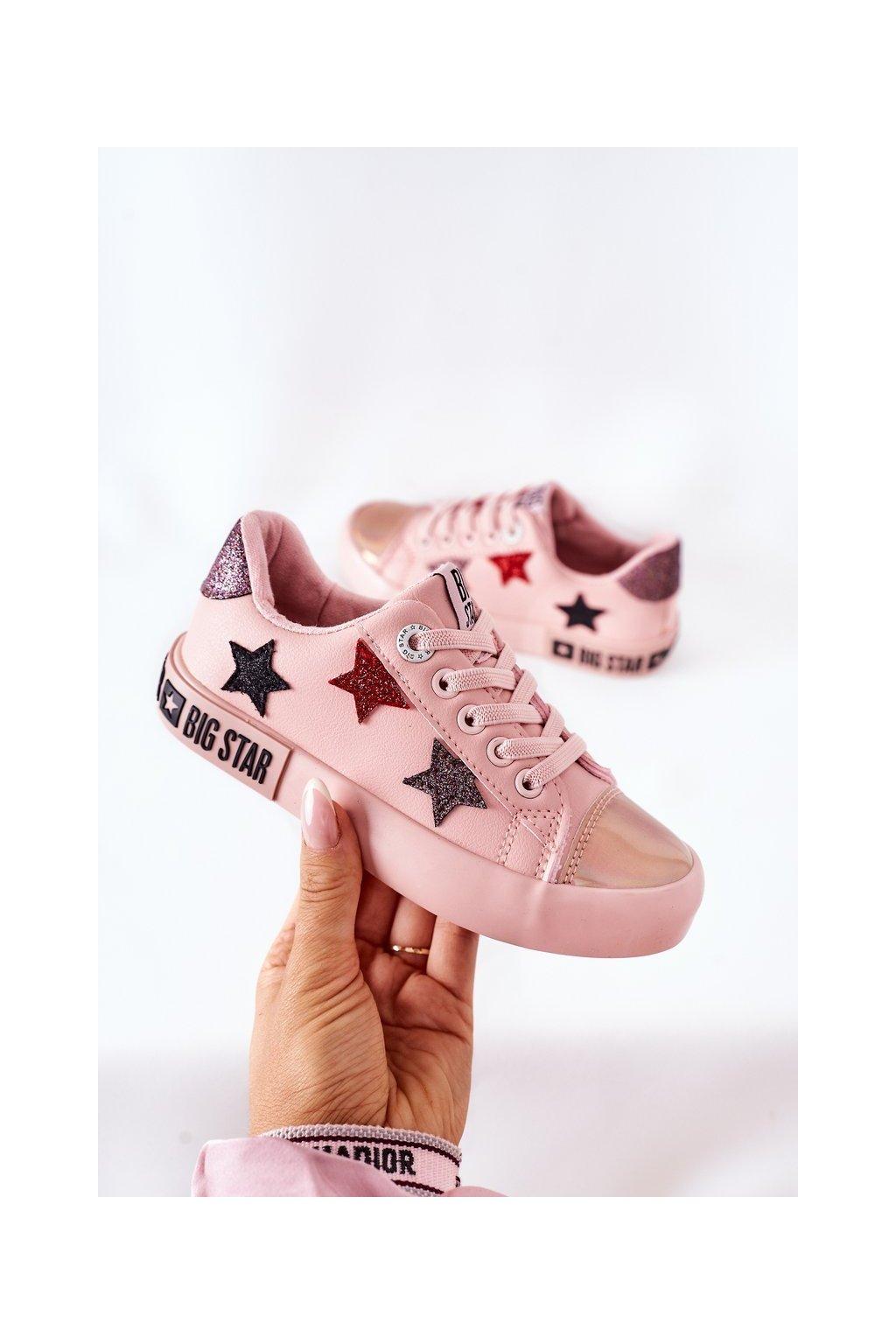 Detské tenisky farba ružová kód obuvi II374033 NUDE