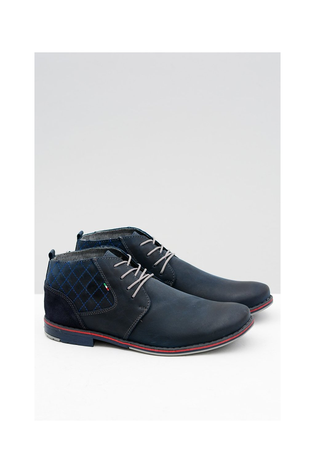 Pánske poltopánky farba modrá kód obuvi 254 NAVY