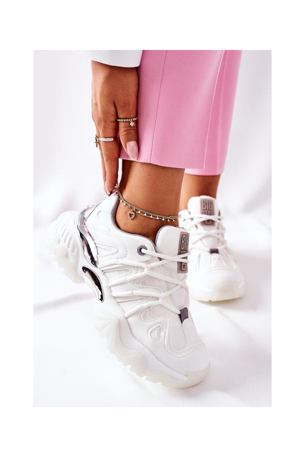 Dámske tenisky farba biela kód obuvi II274088 WHT/GR