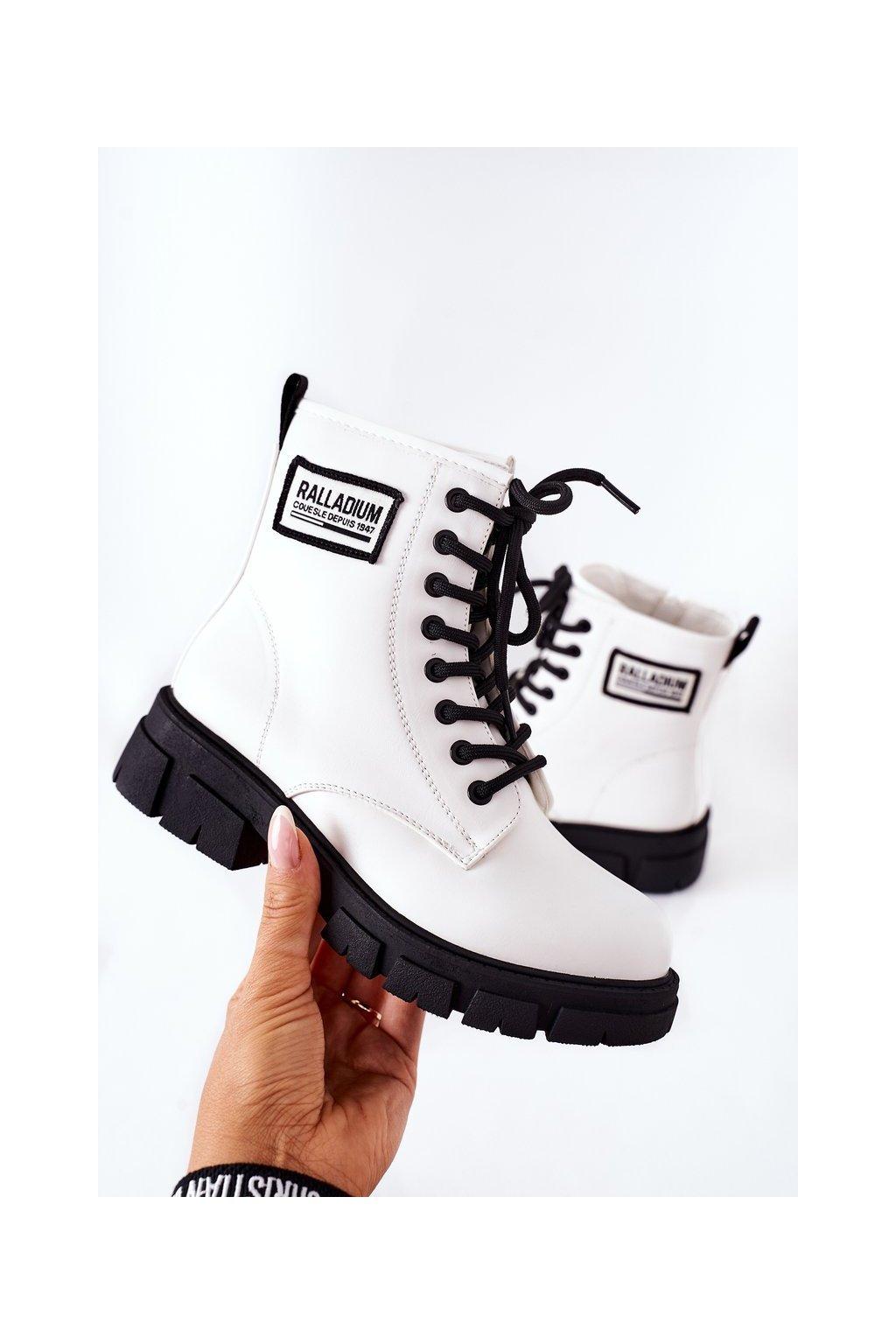 Detské členkové topánky farba biela kód obuvi 220-2A WHI