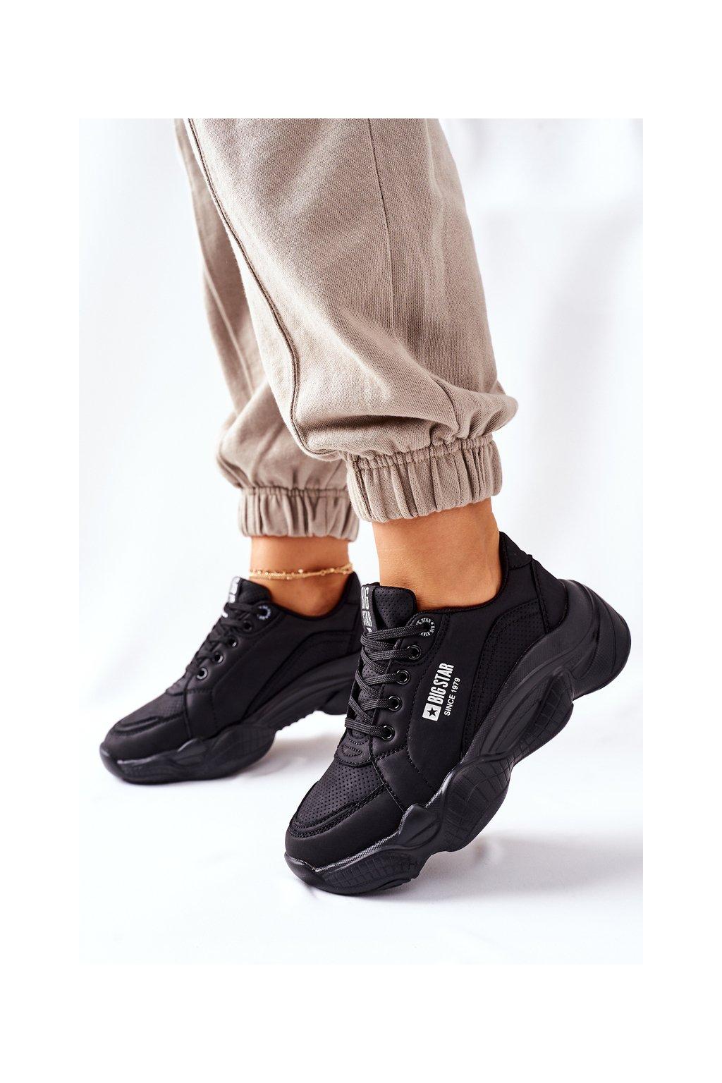 Dámske tenisky farba čierna kód obuvi II274356 BLK