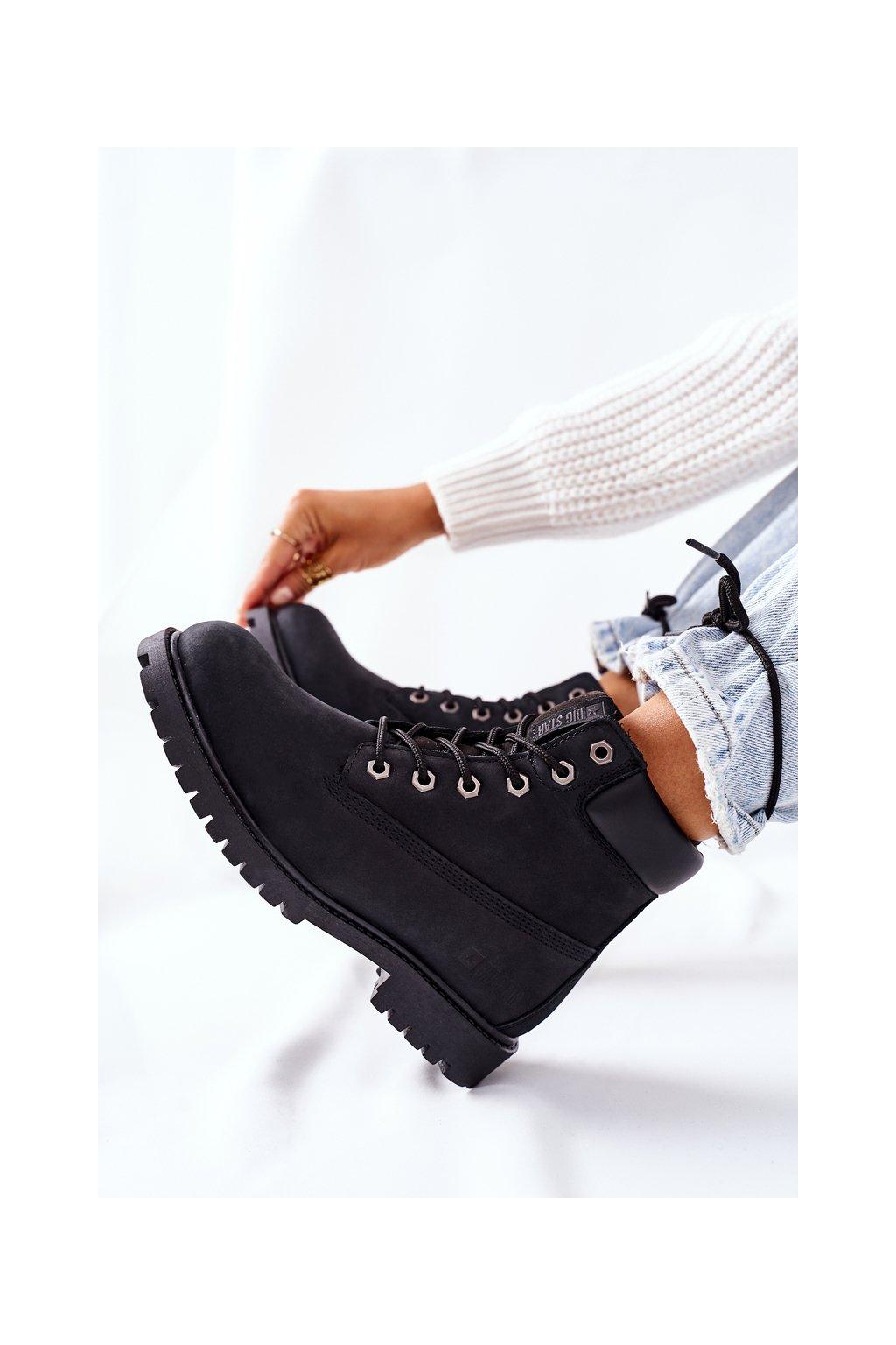 Členkové topánky na podpätku farba čierna kód obuvi II274446 BLACK