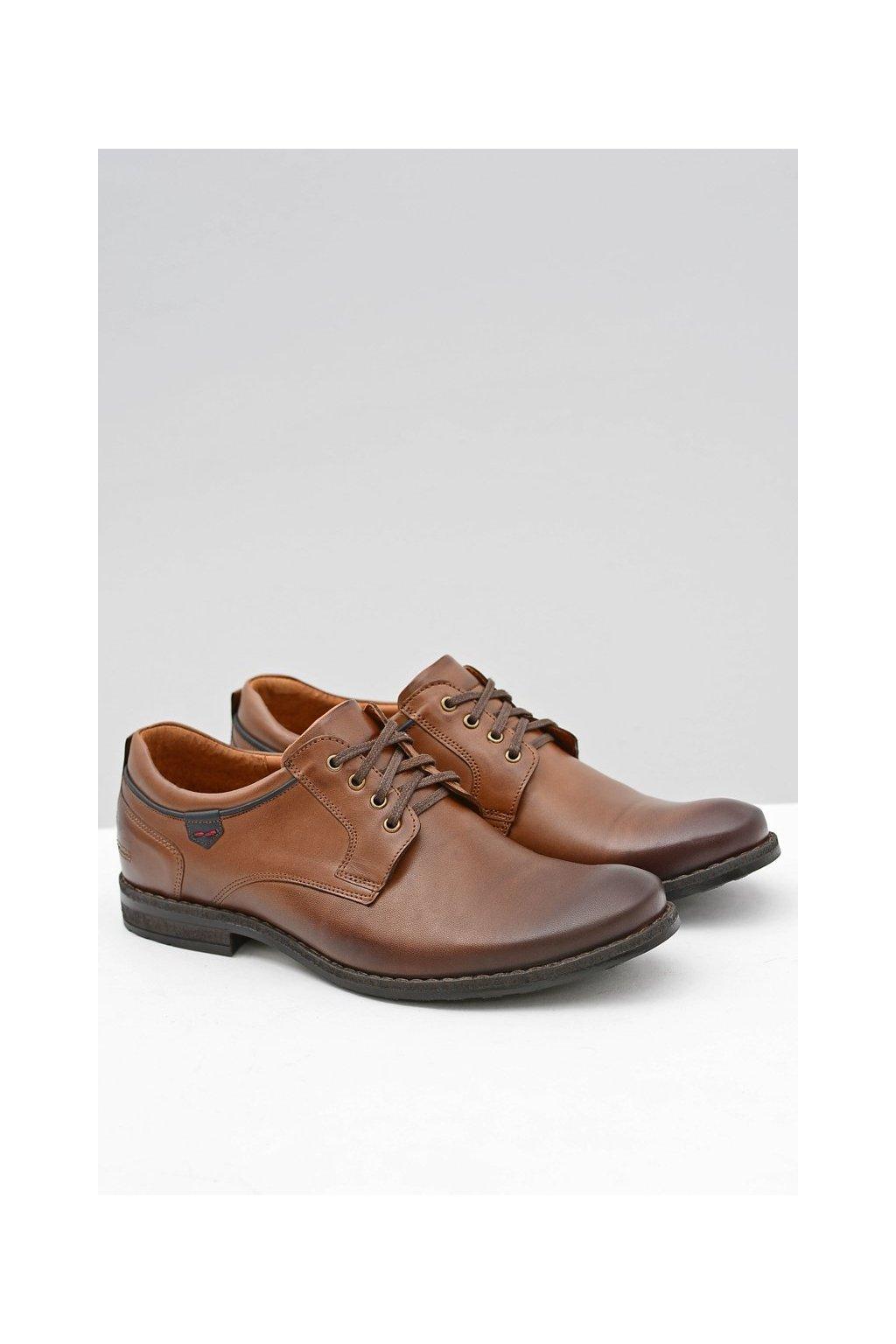 Pánske poltopánky farba hnedá kód obuvi 1577 BROWN