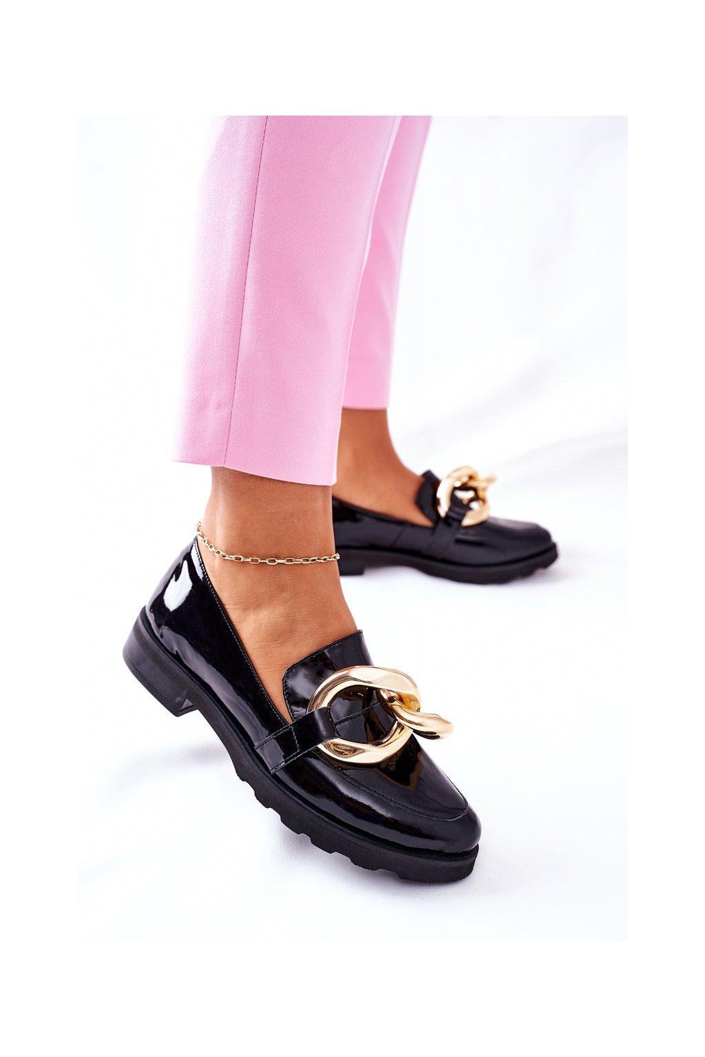 Dámske poltopánky farba čierna kód obuvi 2665 035 BLK