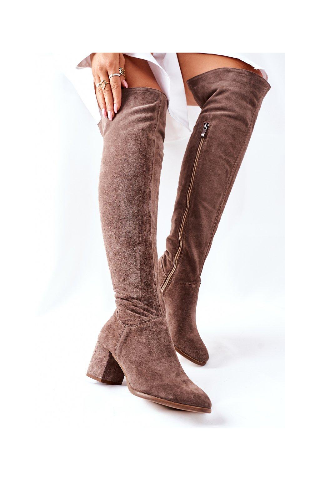 Dámske čižmy farba hnedá kód obuvi 2582 032 BROWN