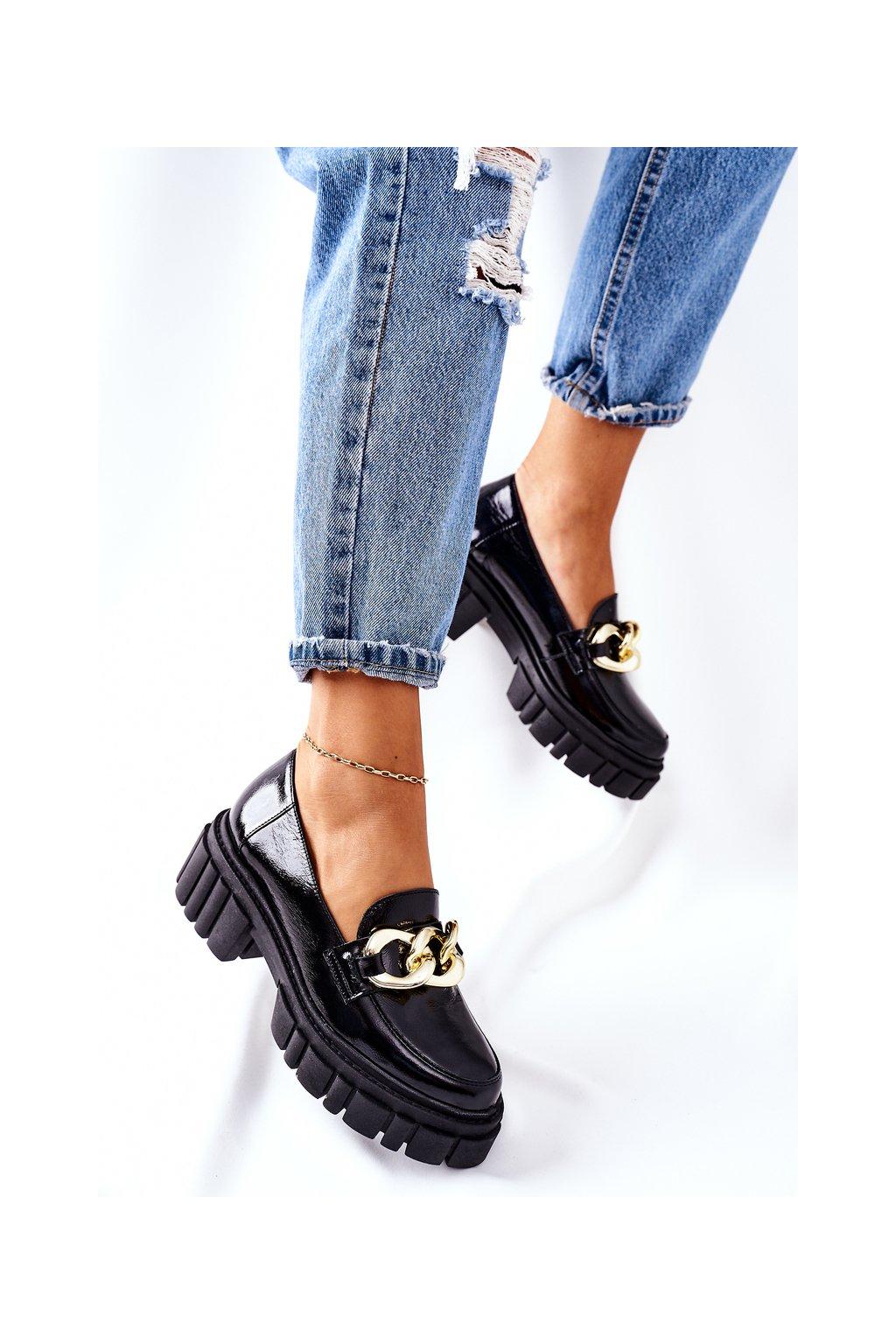 Dámske poltopánky farba čierna kód obuvi 2339 600 BLK