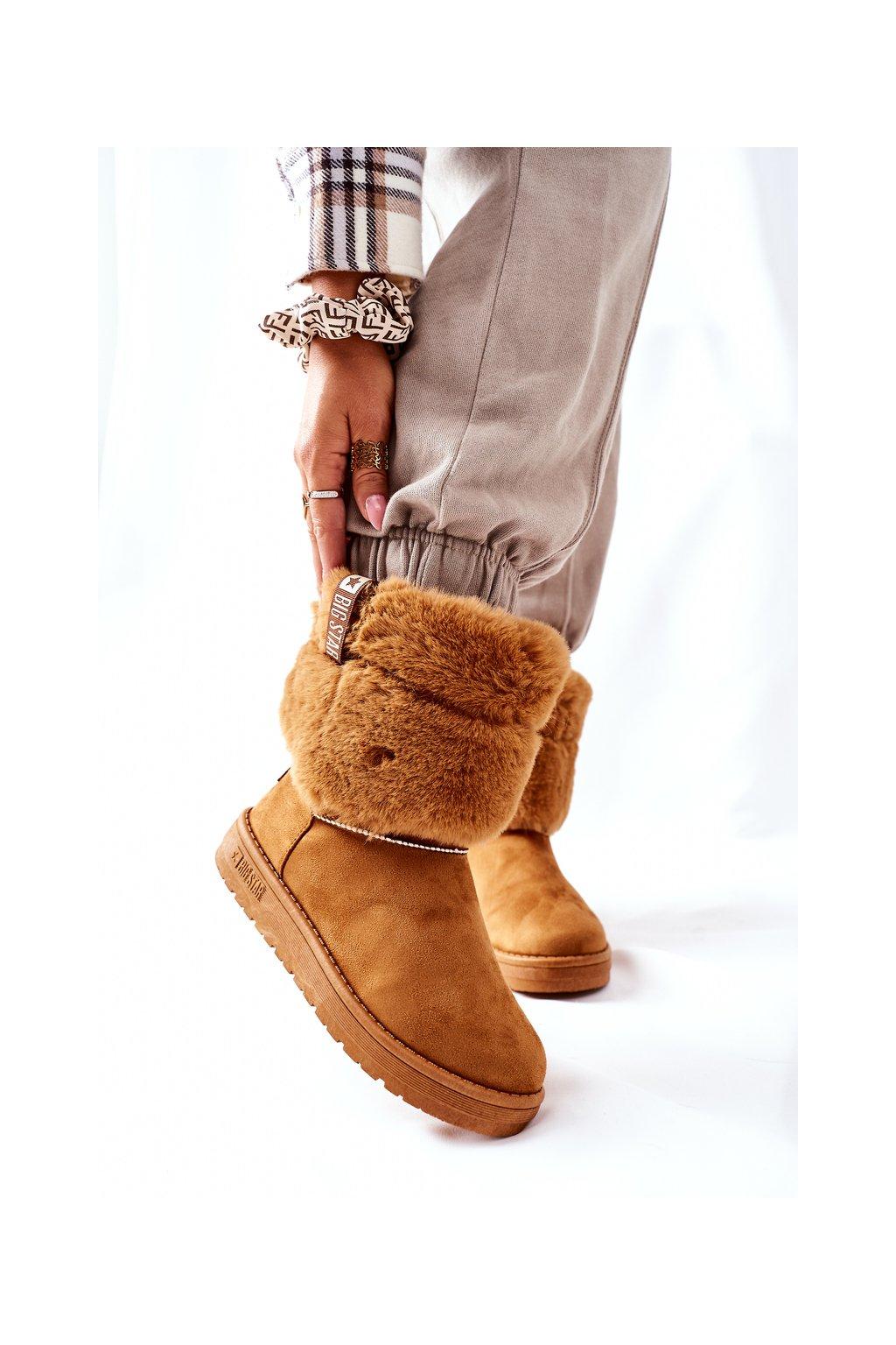 Dámske snehule farba hnedá kód obuvi II274127 CAMEL