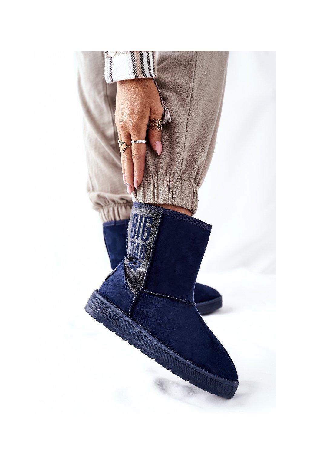 Dámske snehule farba modrá kód obuvi EE274416 NAVY