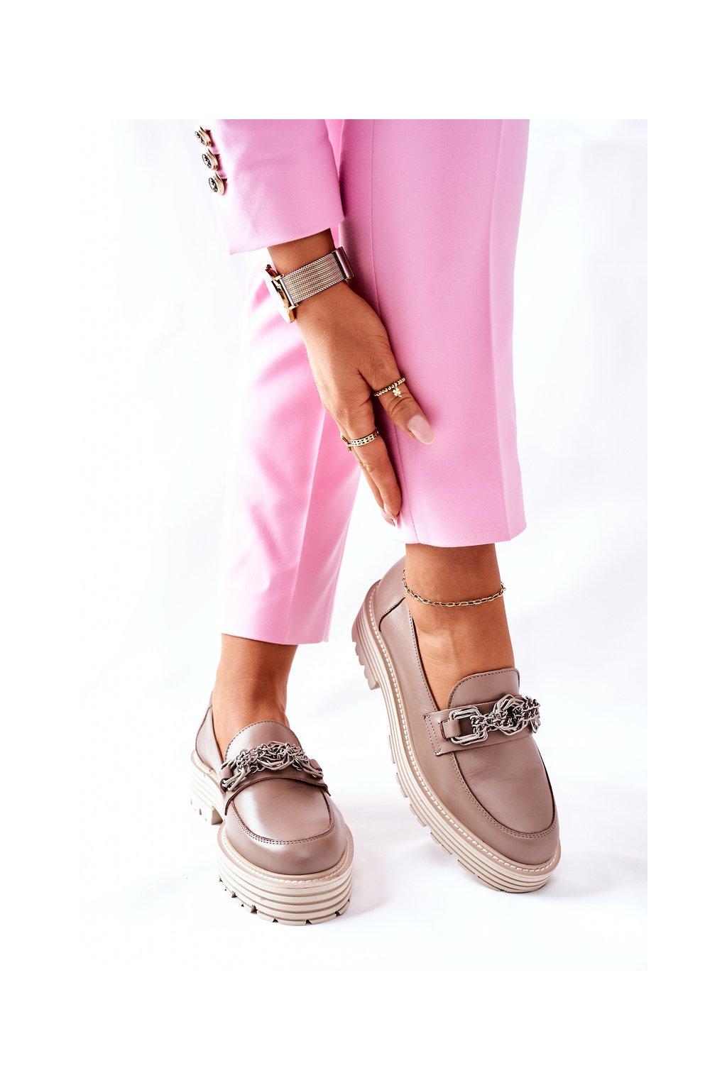 Dámske poltopánky farba hnedá kód obuvi 2383 136 D.BEIGE