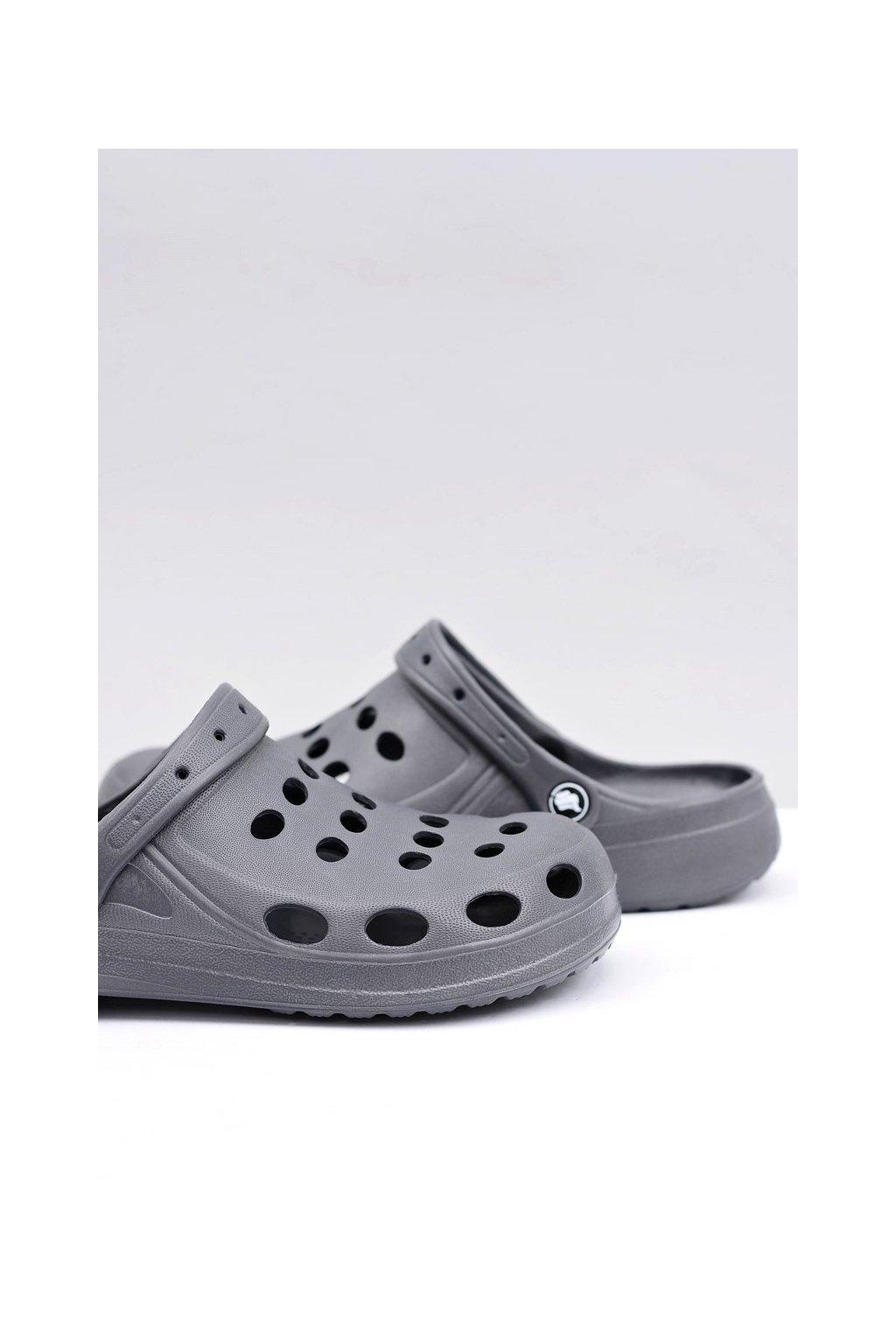 Pánske šľapky farba sivá kód obuvi A-001 GREY