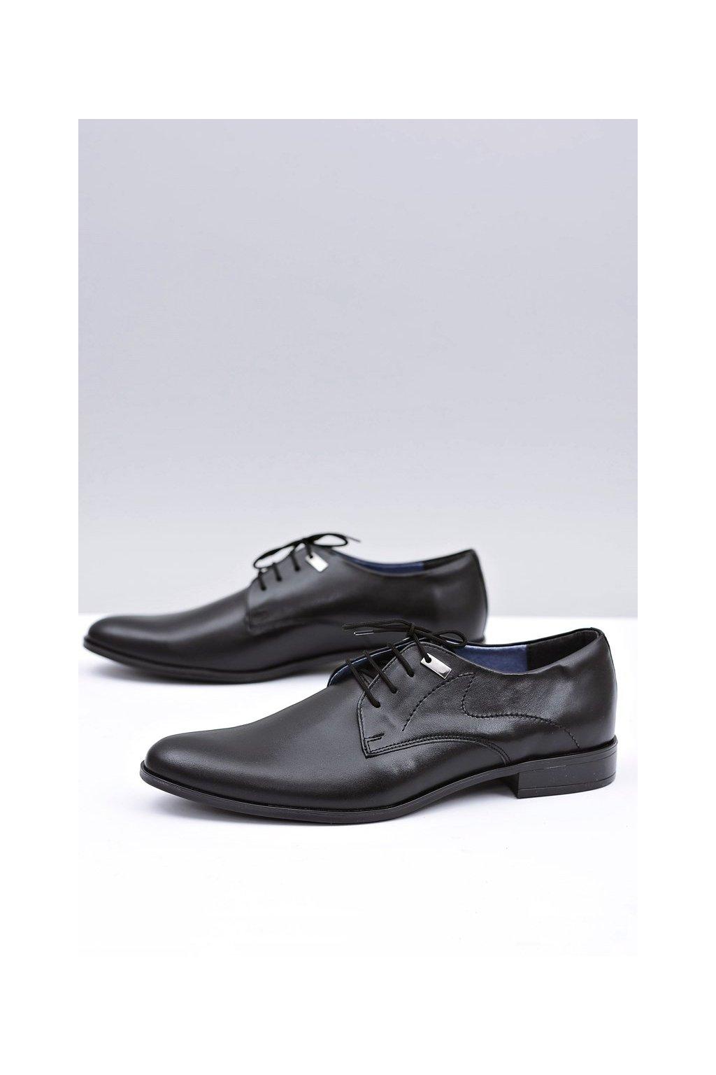 Pánske poltopánky farba čierna kód obuvi 90 BLK