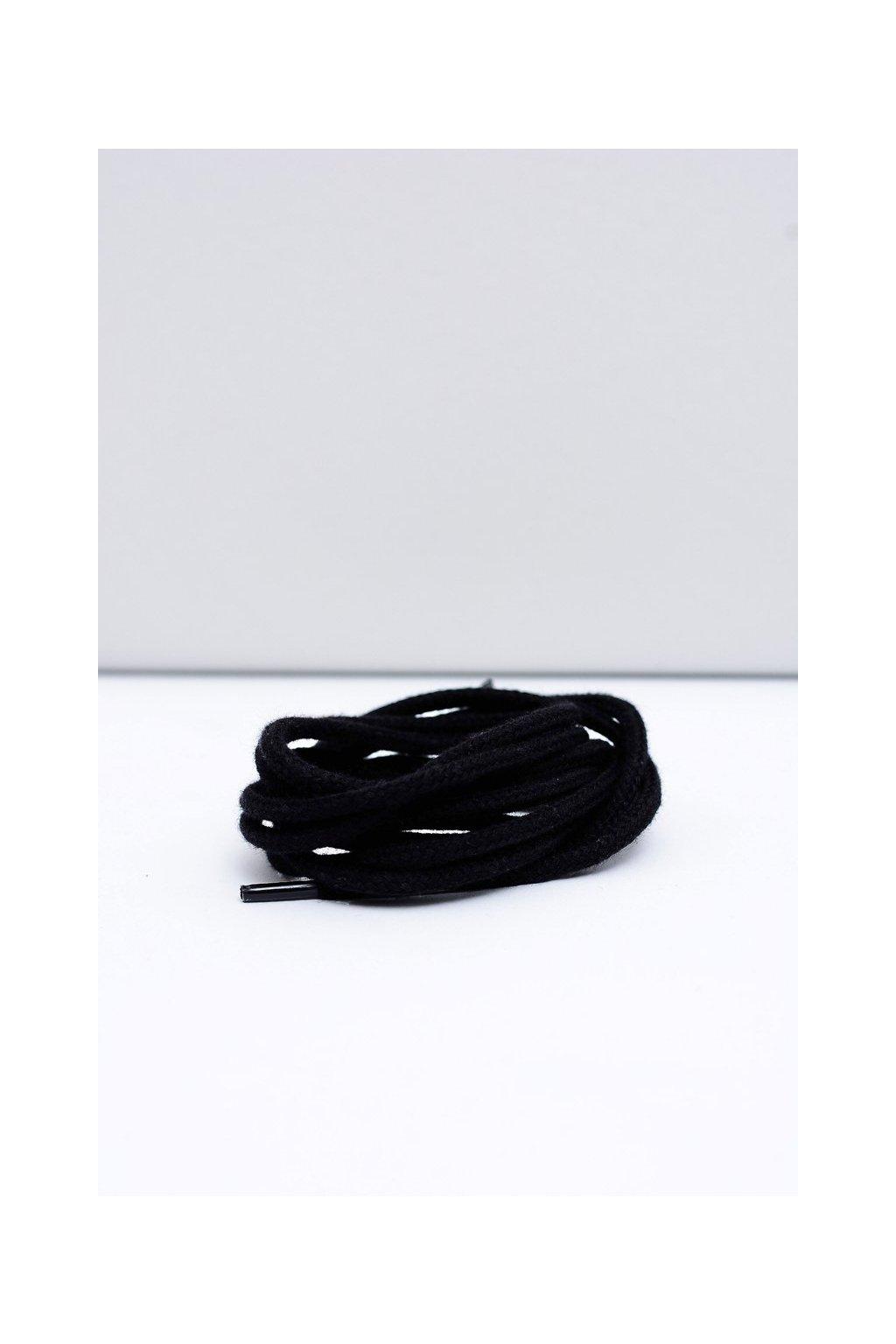 Šnúrky do topánok farba čierna kód CZARNE OKR. GRUBE