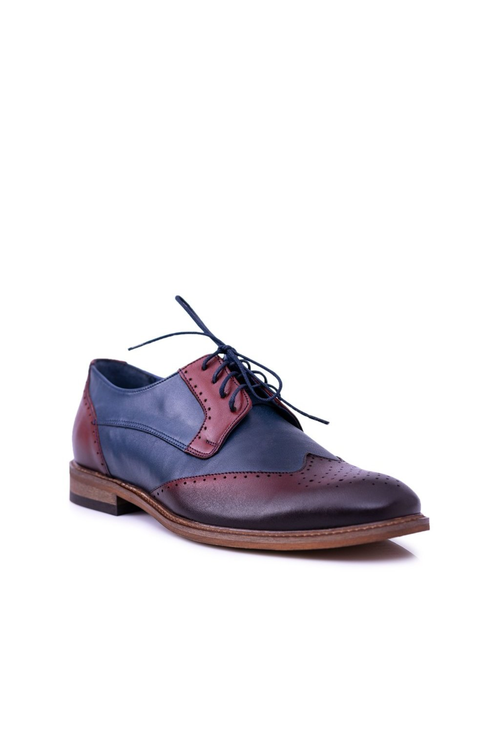 Pánske poltopánky farba hnedá kód obuvi 1629 R.5 GRANAT