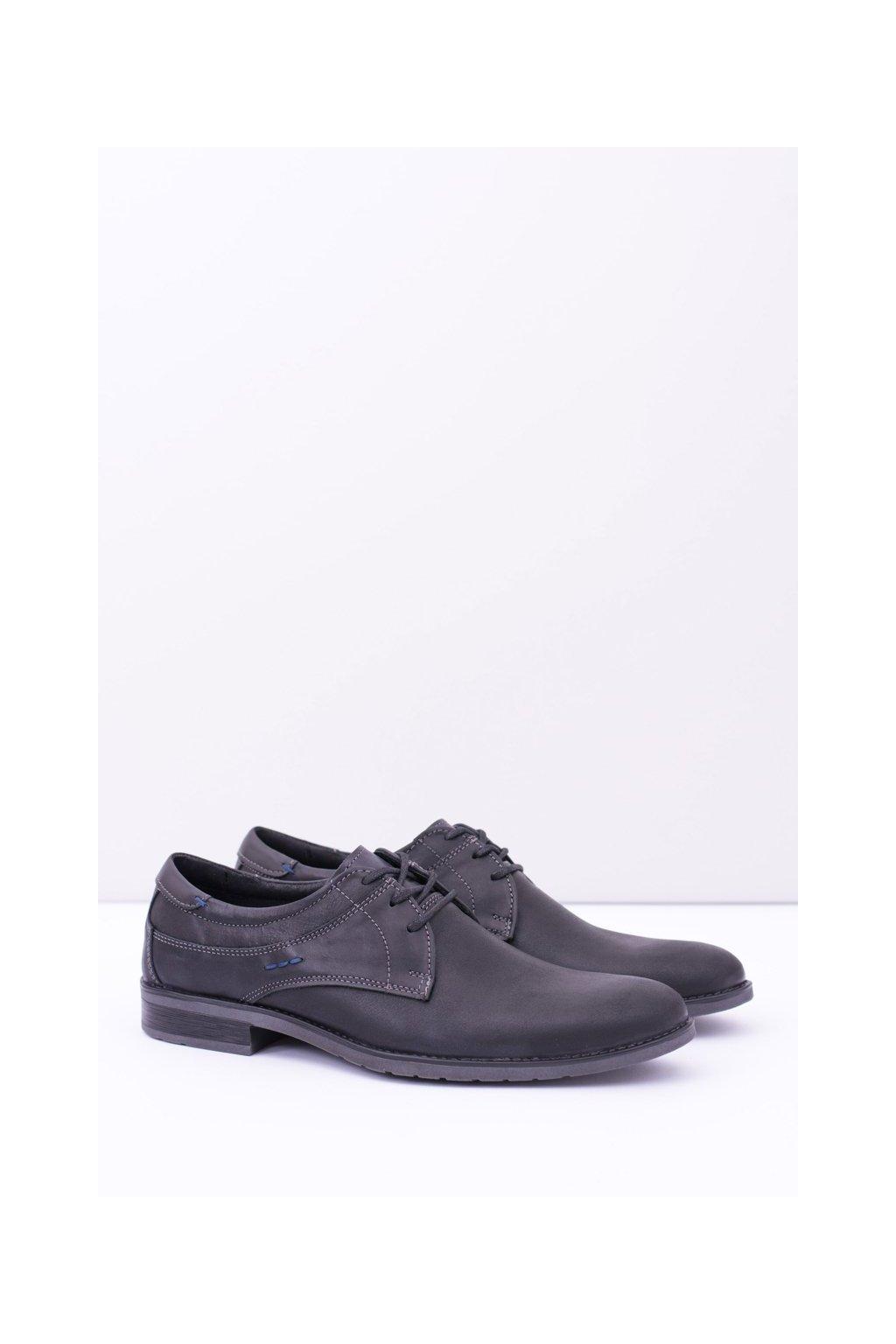 Pánske poltopánky farba čierna kód obuvi 877 BLK