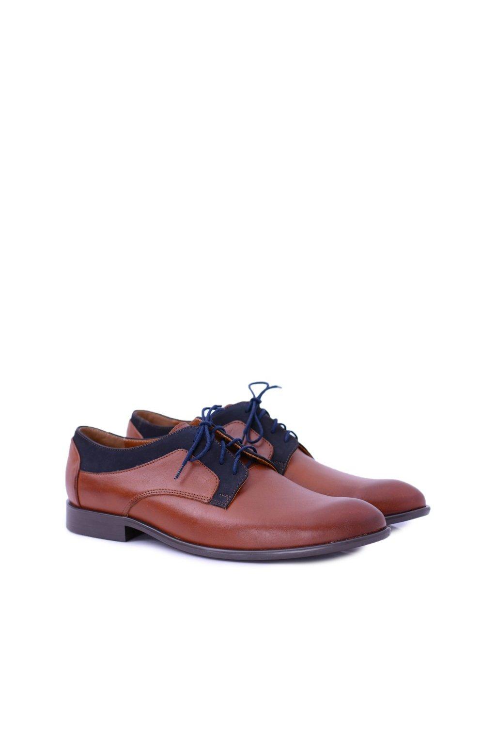 Pánske poltopánky farba hnedá kód obuvi 598 BROWN