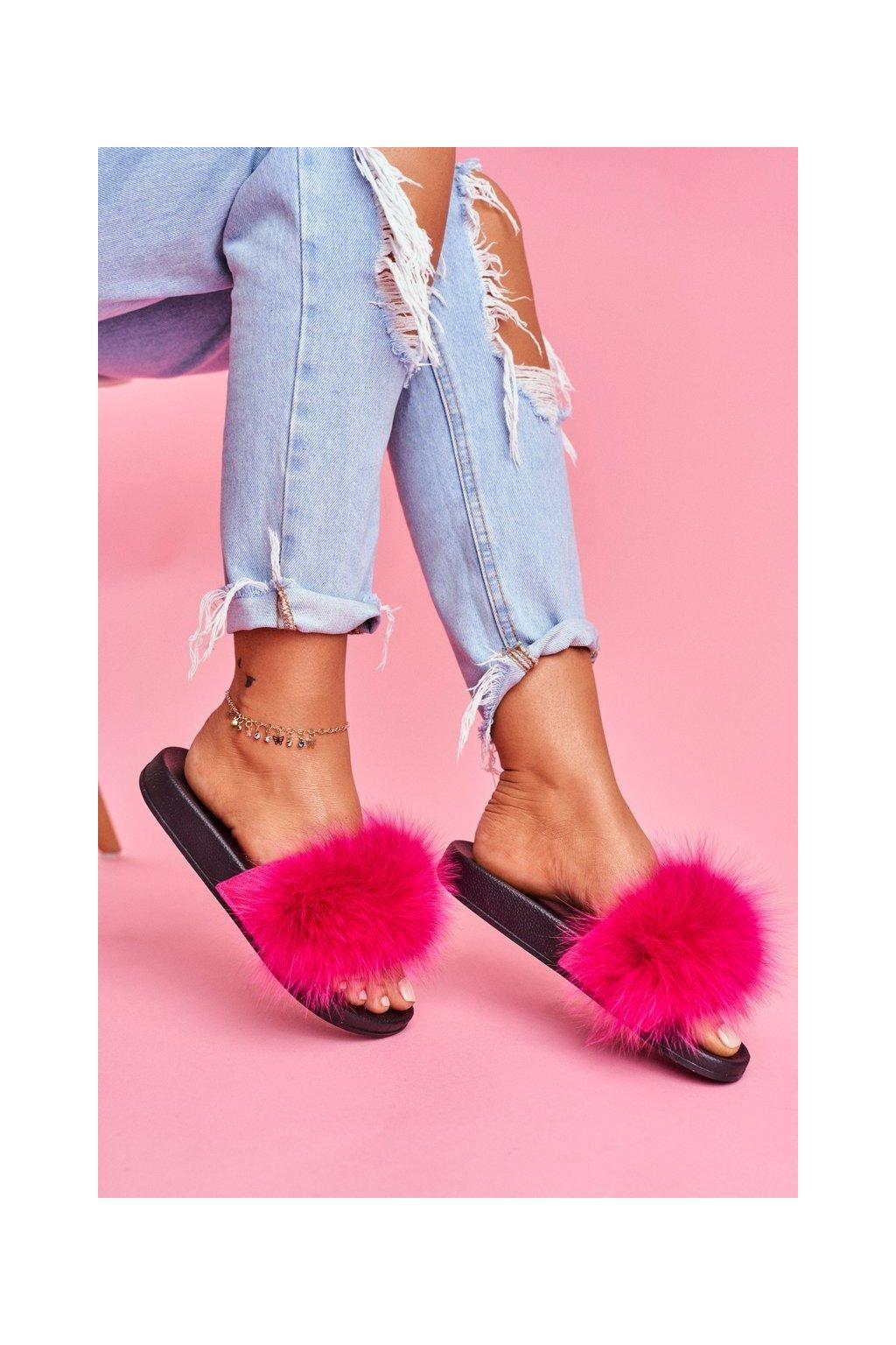 Dámske šľapky farba ružová kód obuvi 870 FUCHSIA