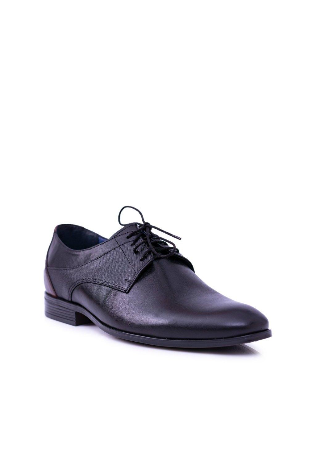 Pánske poltopánky farba čierna kód obuvi 1677 BLK