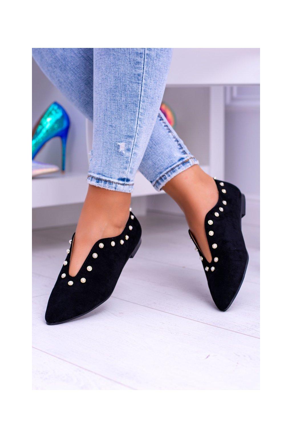 Dámske poltopánky farba čierna kód obuvi 978-B1B BLK