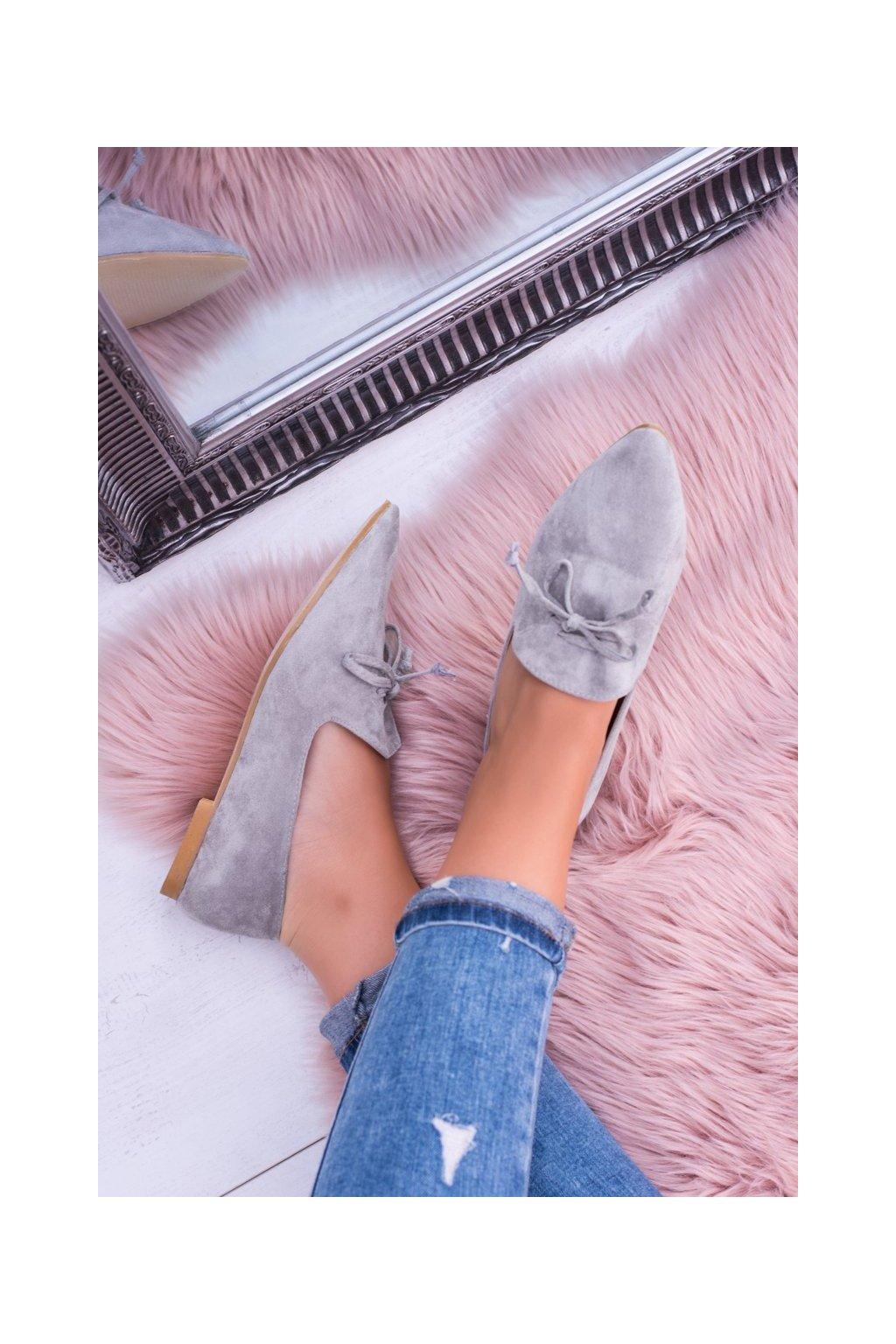 Dámske balerínky farba sivá kód obuvi 978-A8 GREY