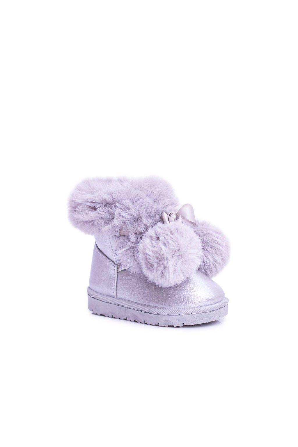 Detské snehule farba sivá kód obuvi 20215-1G/2G SILVER
