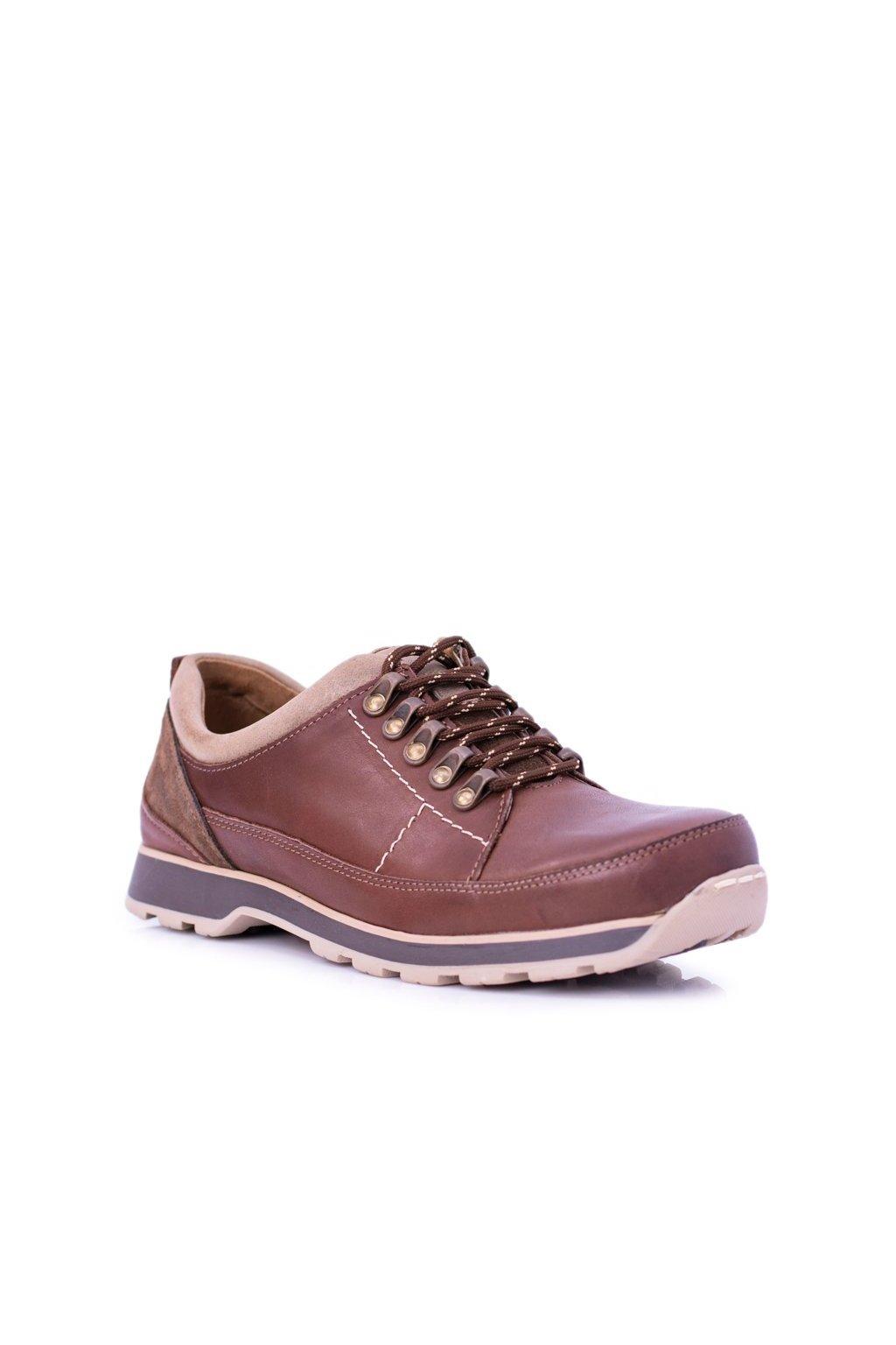 Pánske poltopánky farba hnedá kód obuvi 867 BROWN
